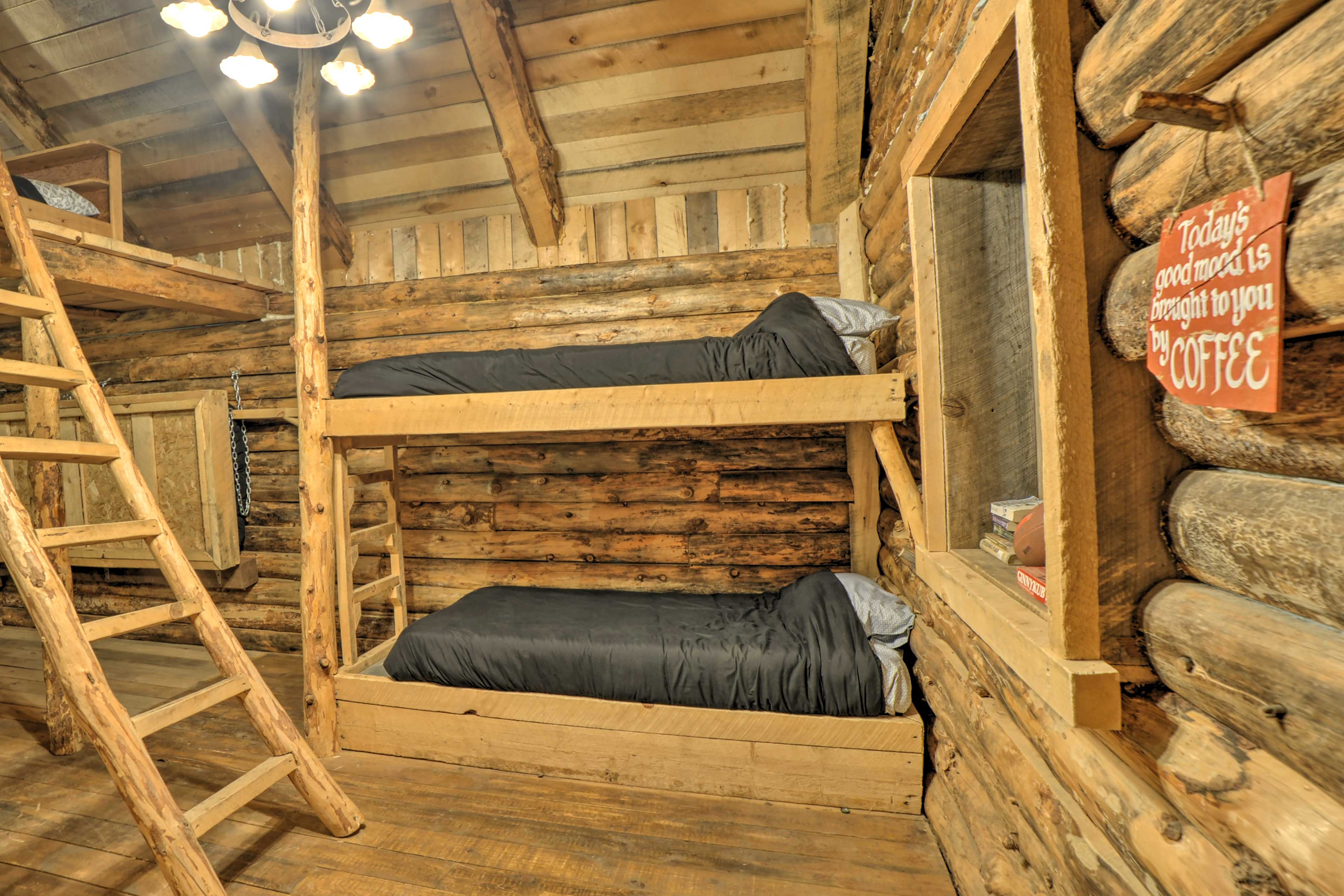 Rest easy from the twin-over-twin bunk!