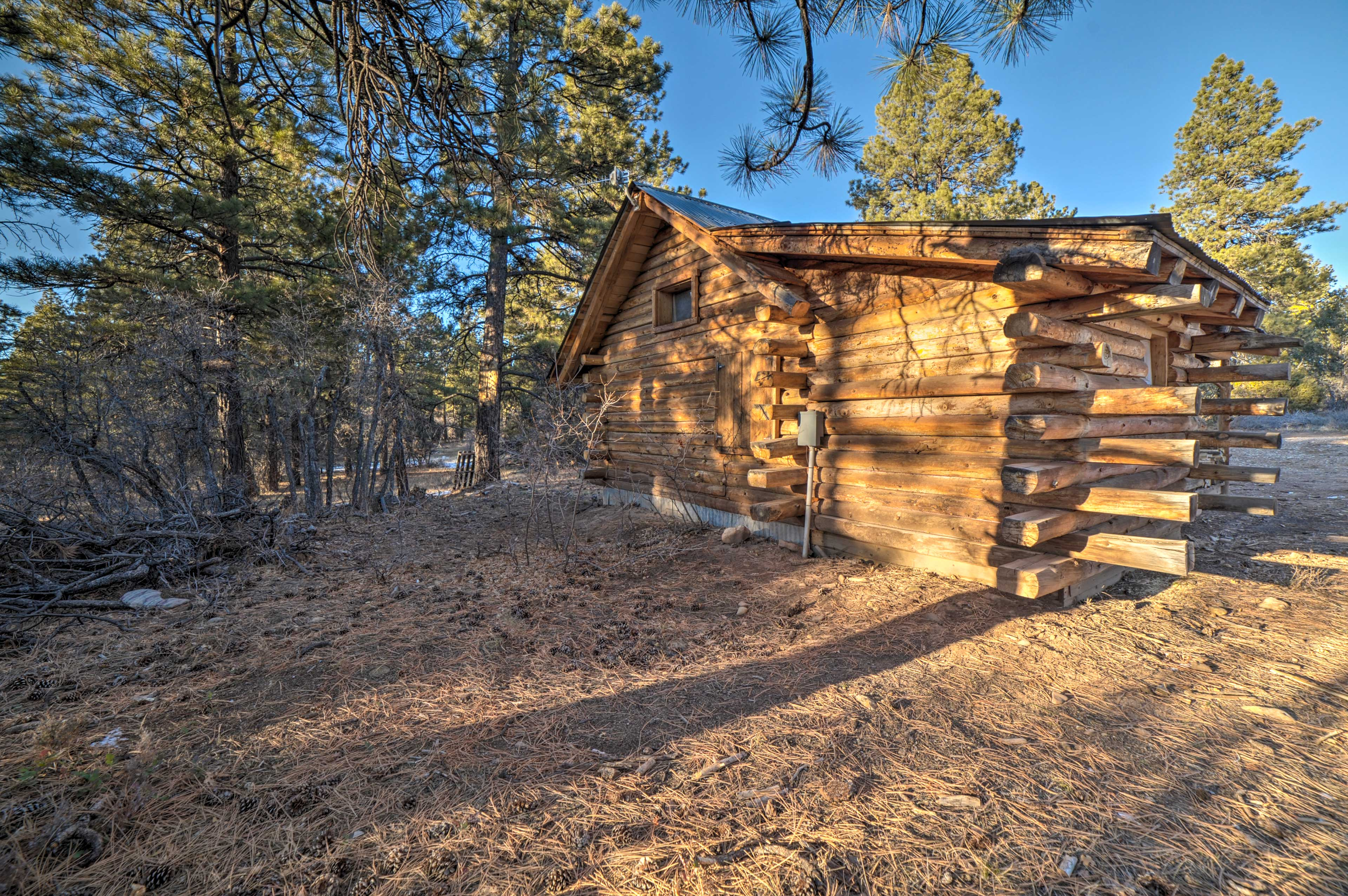 This classic log cabin is sure to impress.