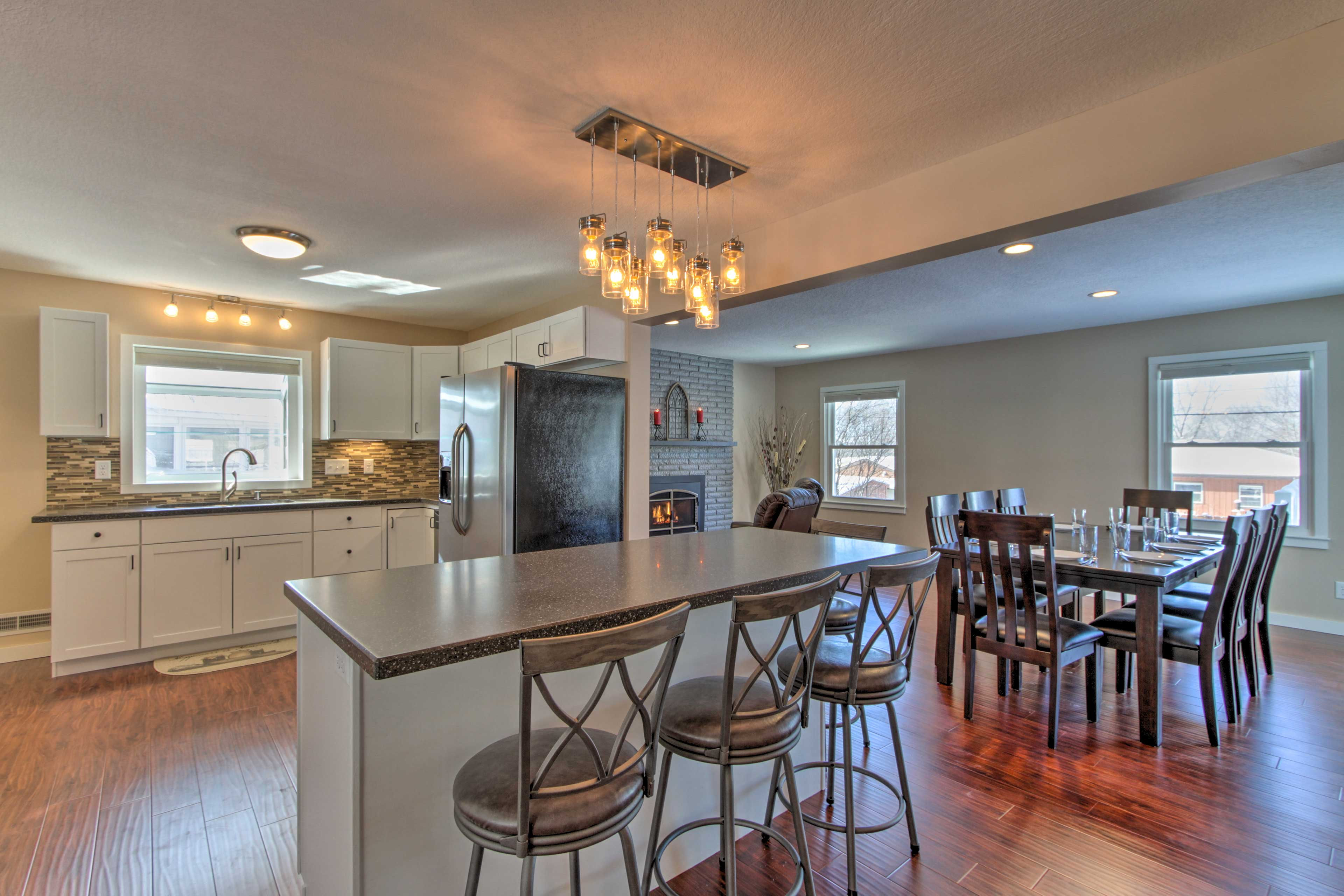 This 3-bedroom, 2.5-bath vacation rental offers all the comforts of home.