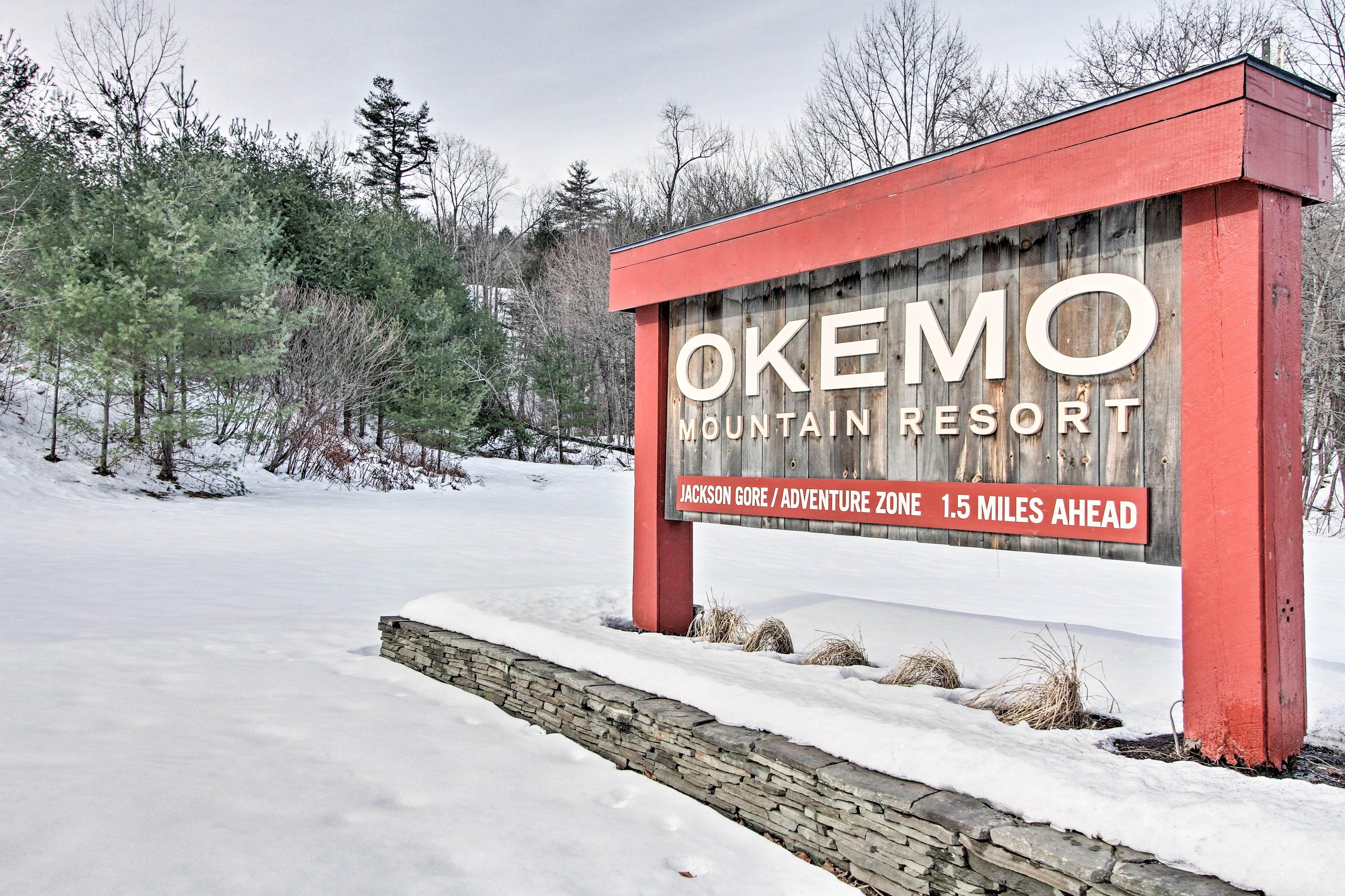 Okemo Mountain Resort is less than 3 miles away!