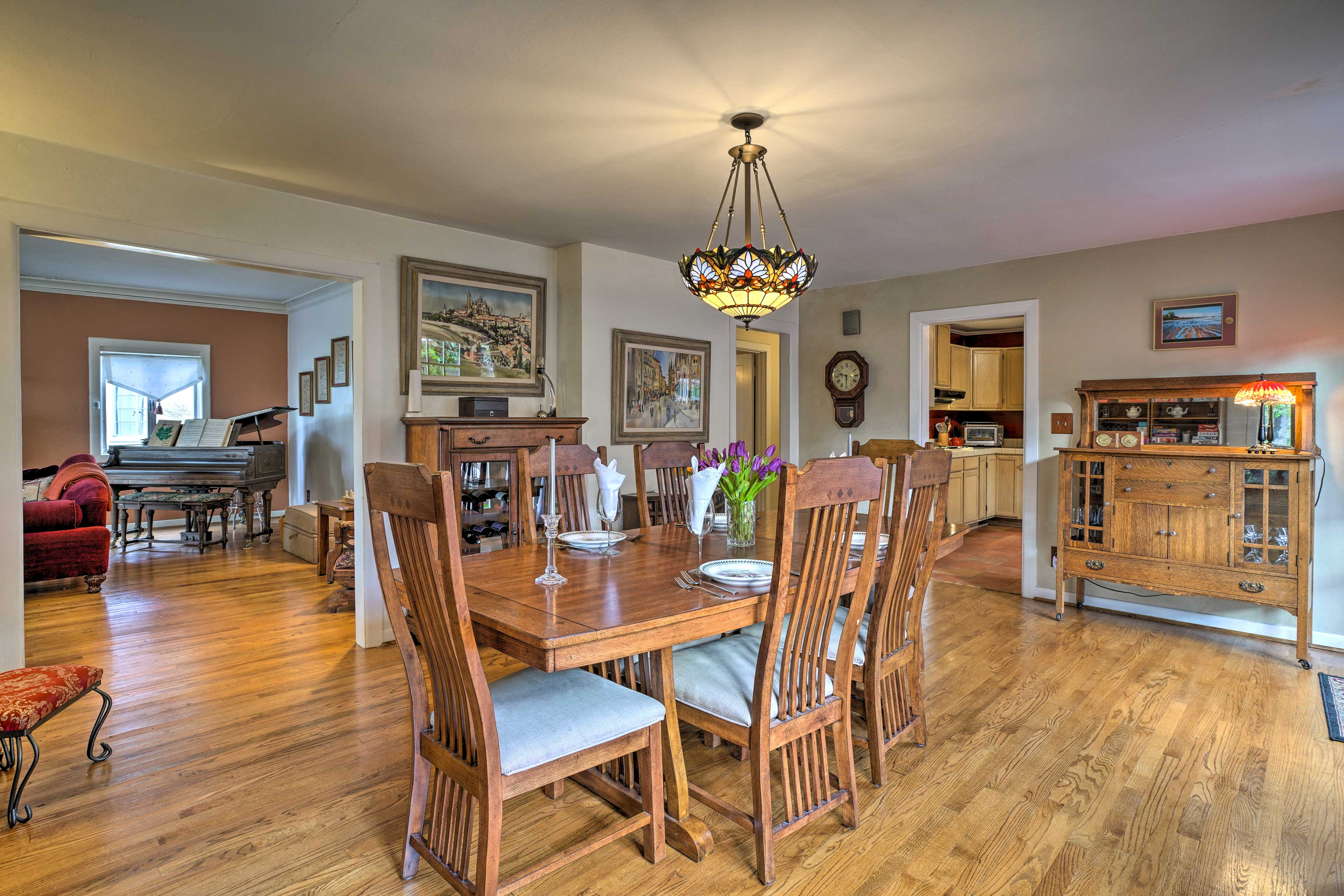 Celebrate your special occasions around this dining table.