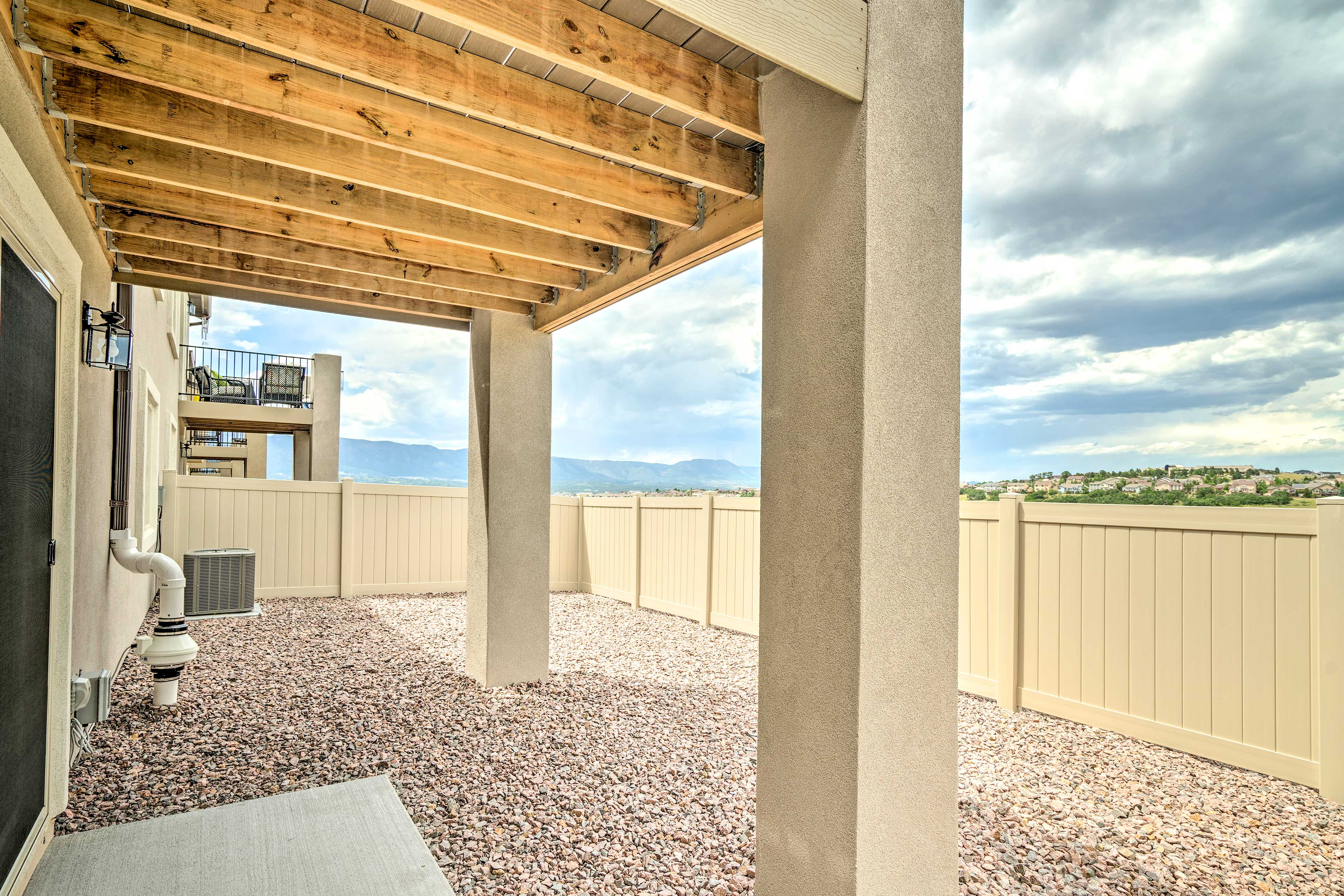 Breathe in fresh mountain air from your private, fenced-in yard.