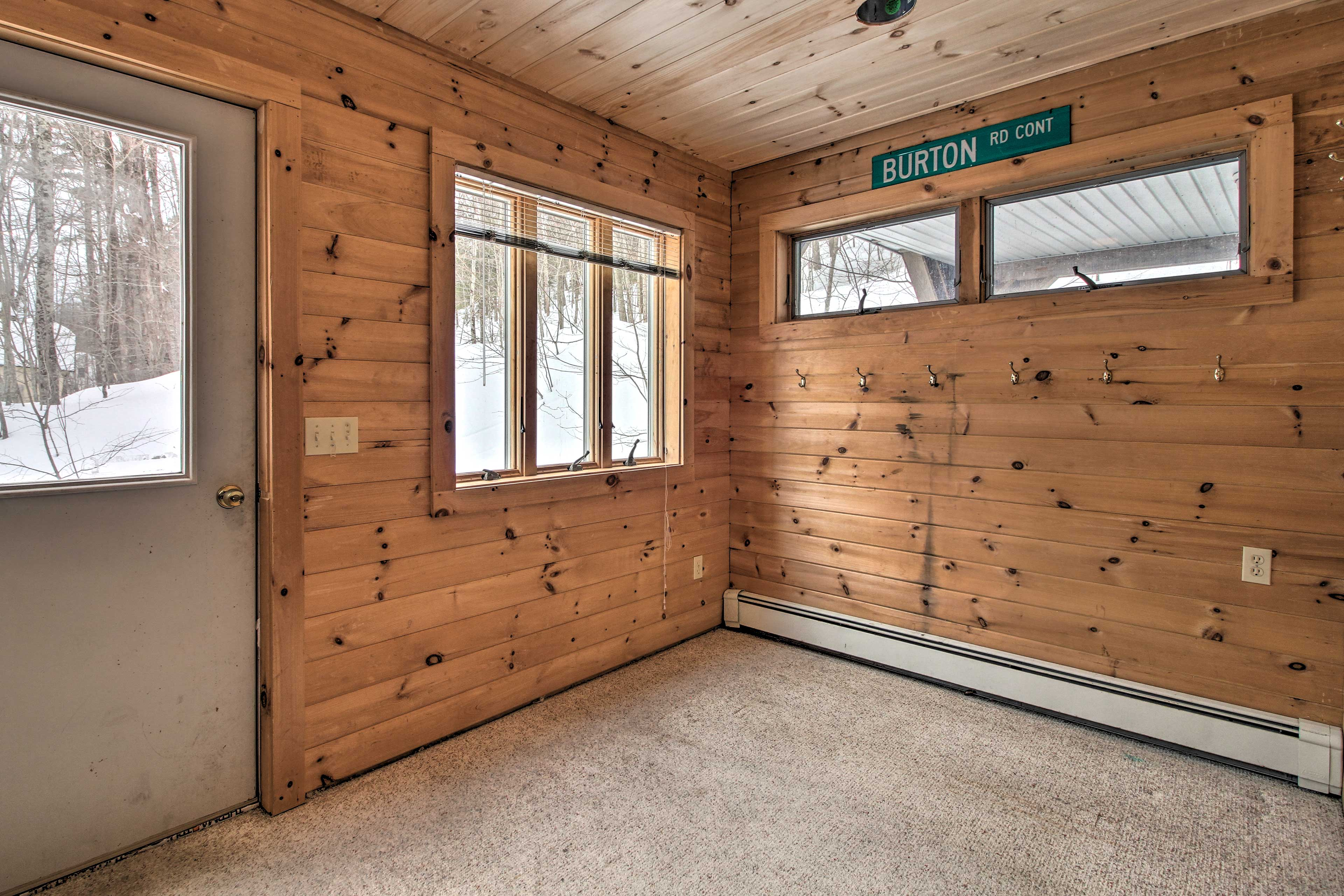 This room is ideal for storing ski equipment.