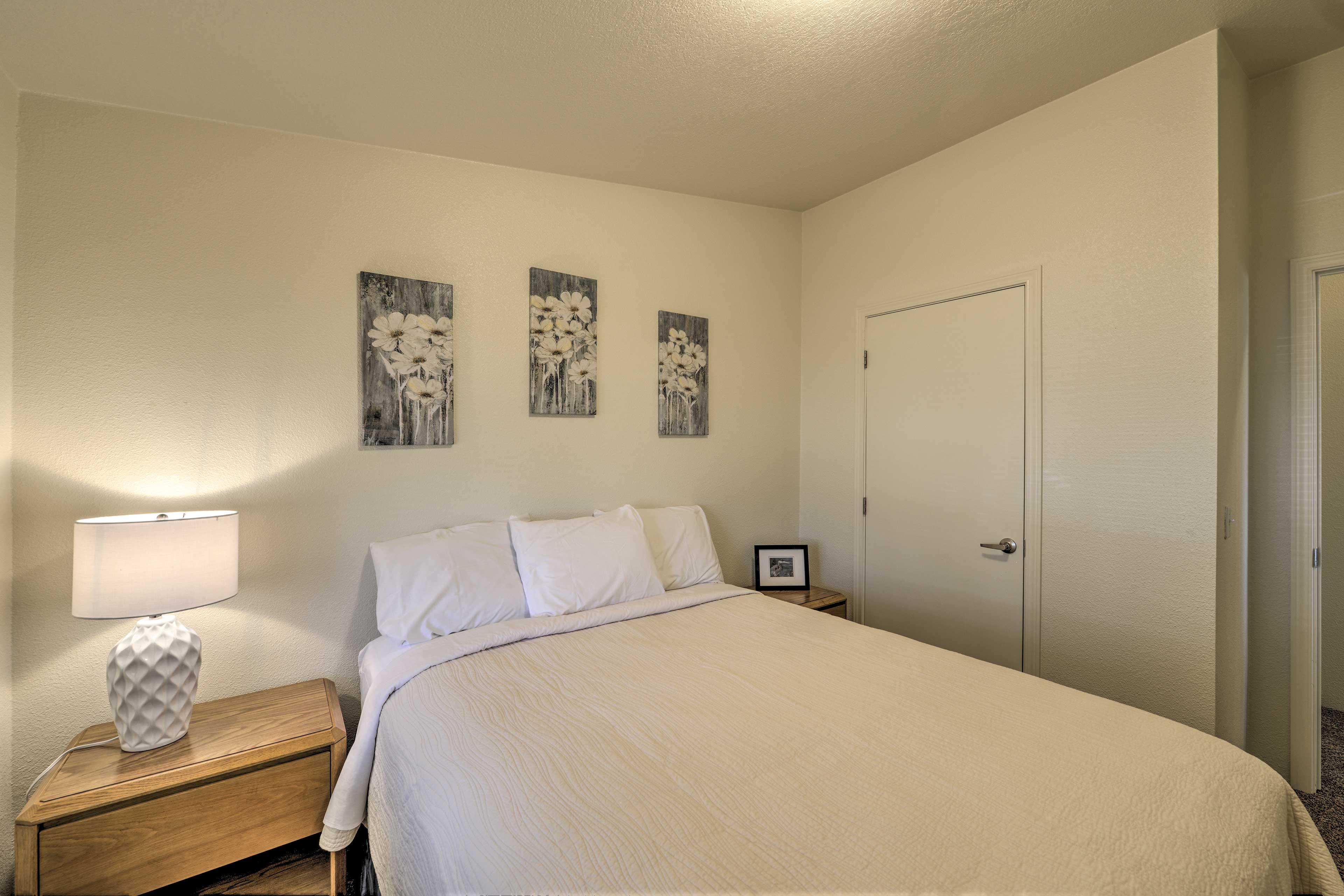 The property boasts tastefully simple decor.