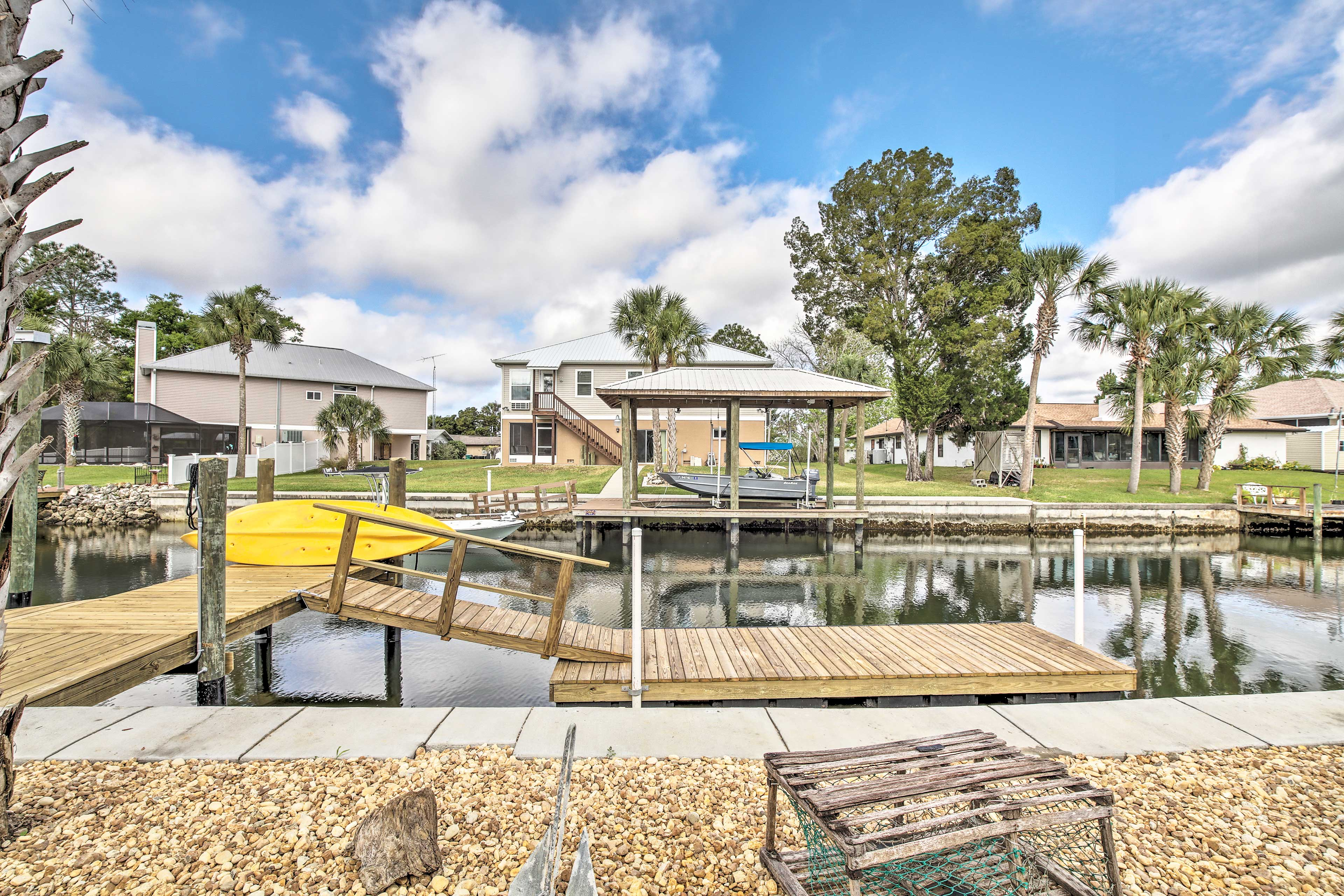Tie your boat up to this newly build 20-foot dock!