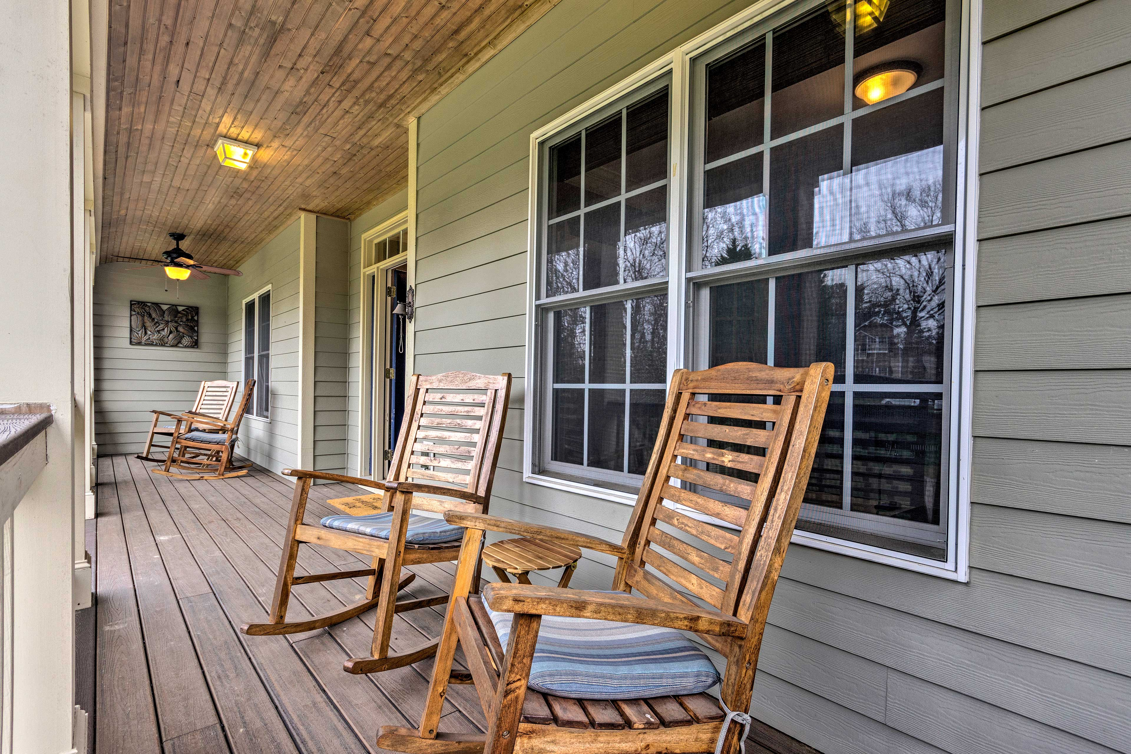 Start each morning with a cup of coffee on the front porch.