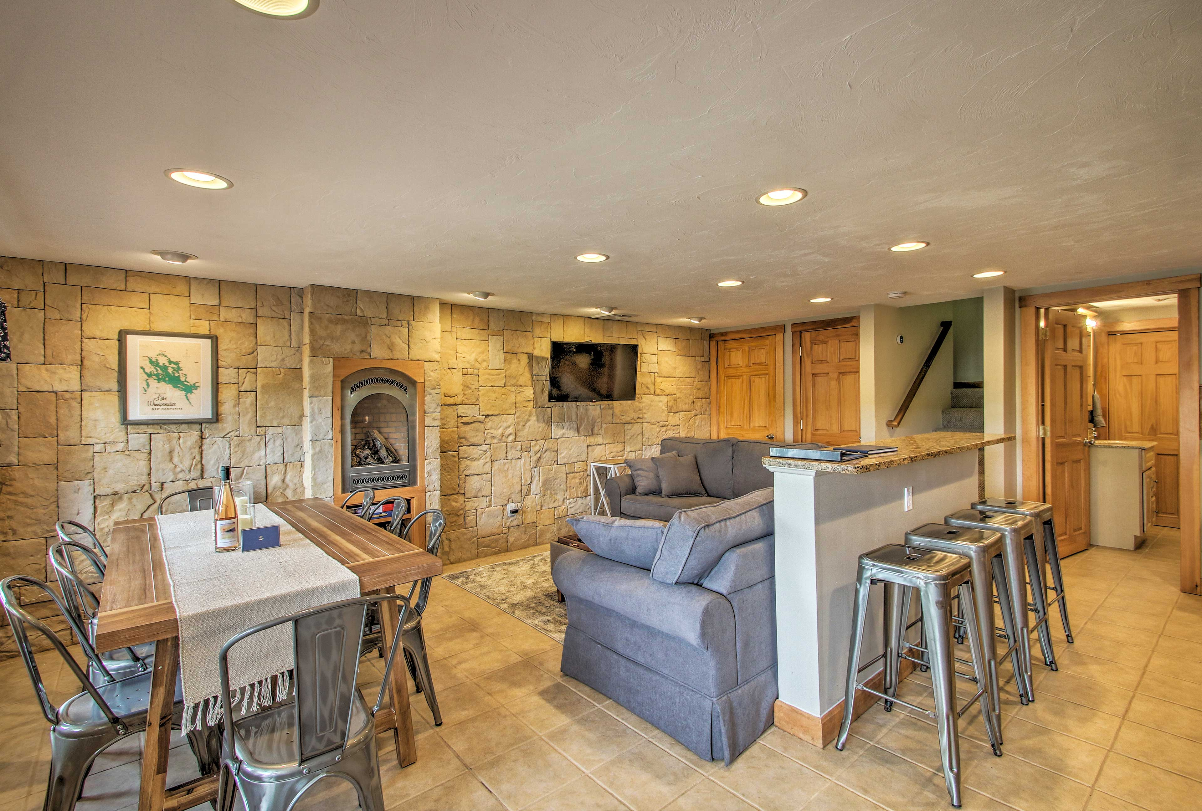 Cozy up in this Laconia vacation rental house during your New Hampshire retreat.