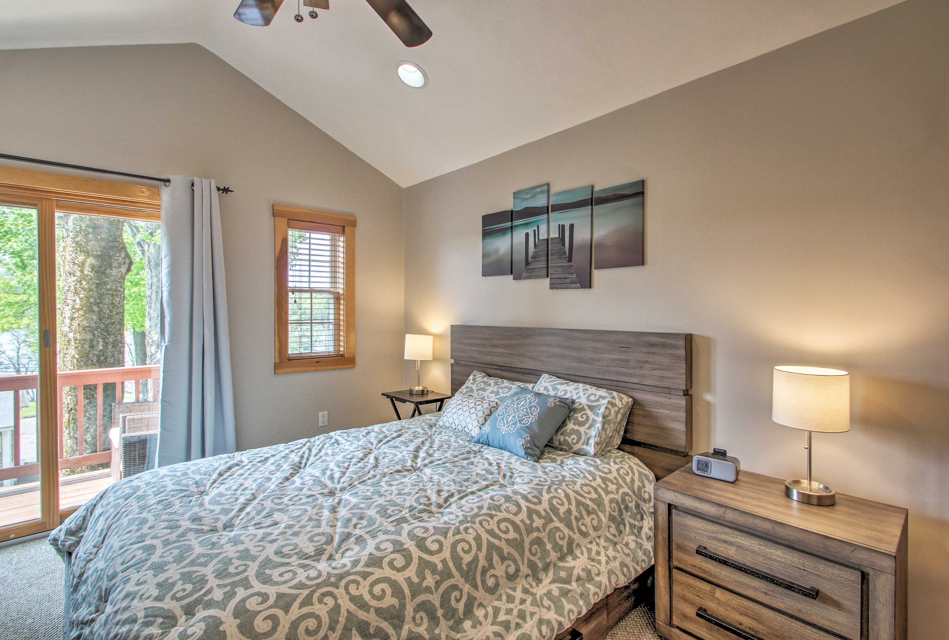 Two guests can claim this queen bed.
