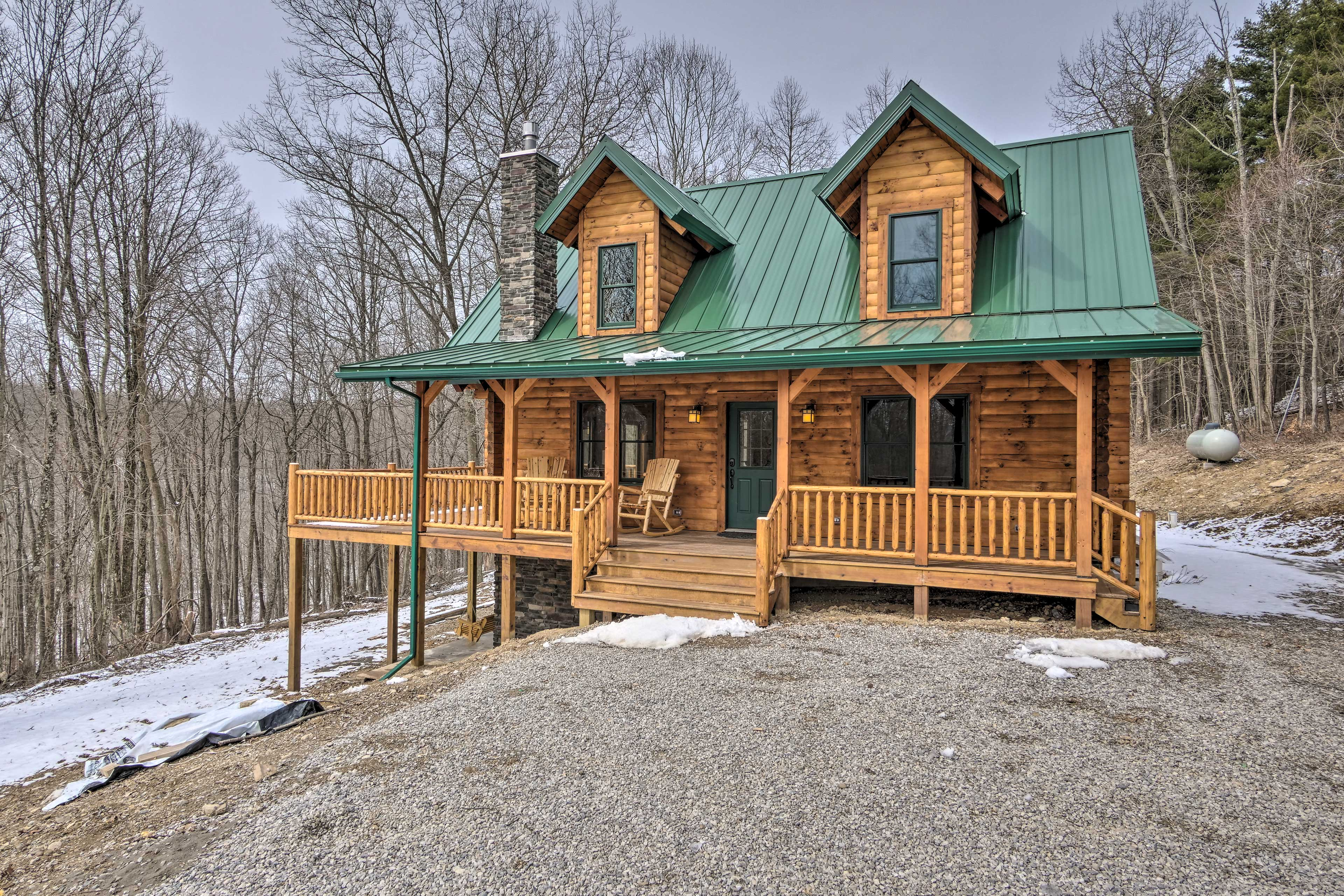 Fall in love with this log cabin.