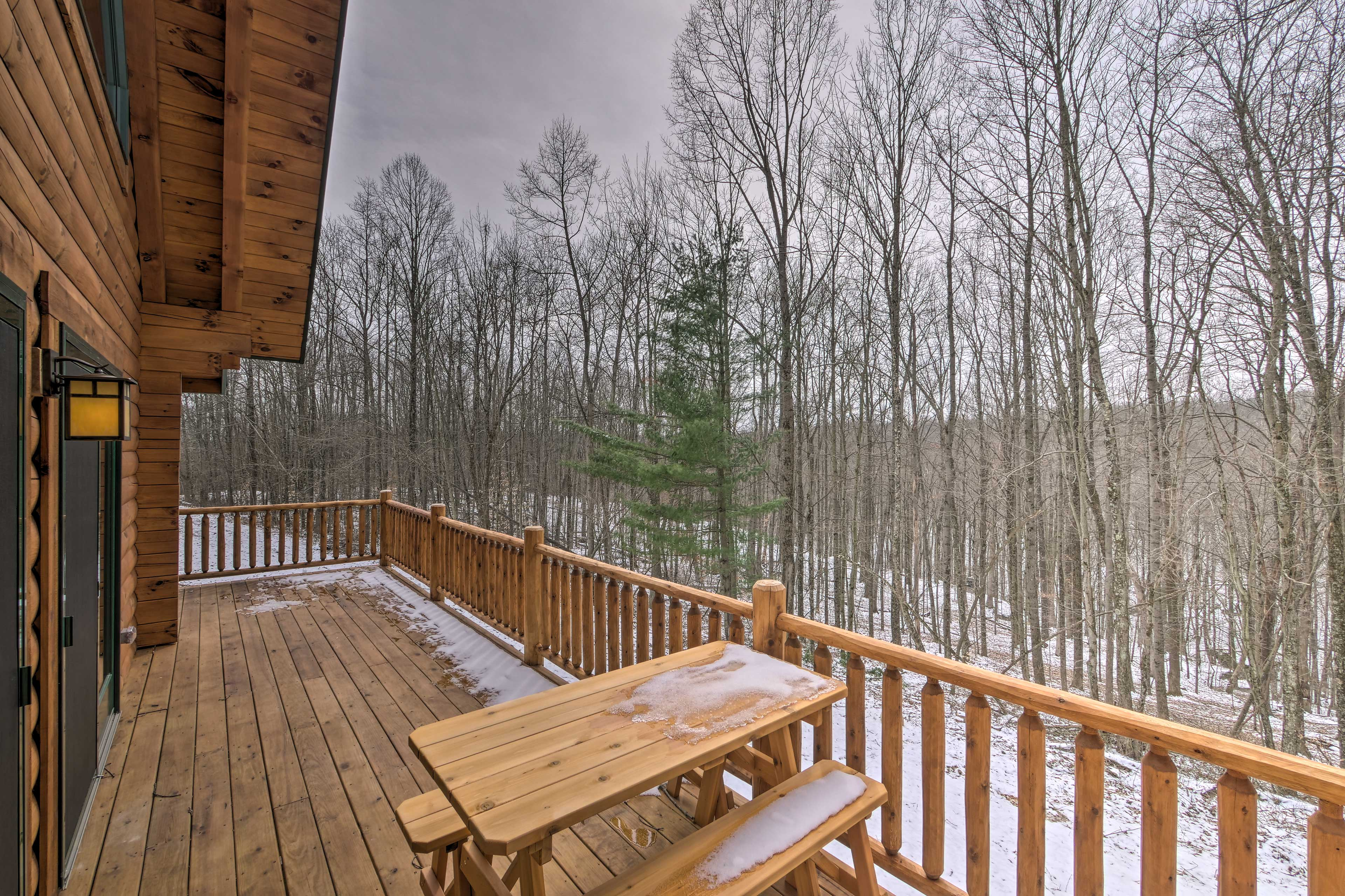 Enjoy the wooded views.