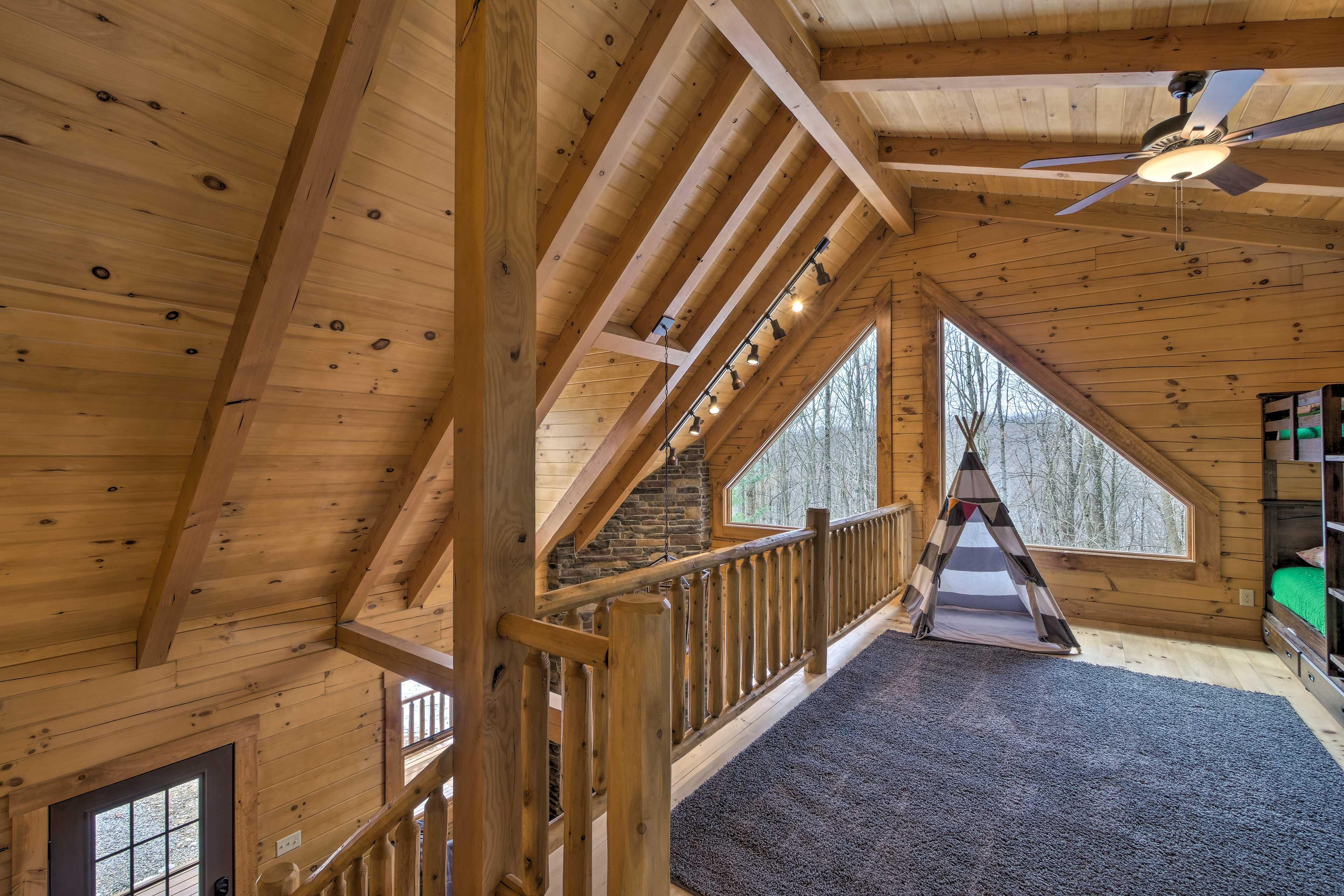 The loft is a kids' paradise!