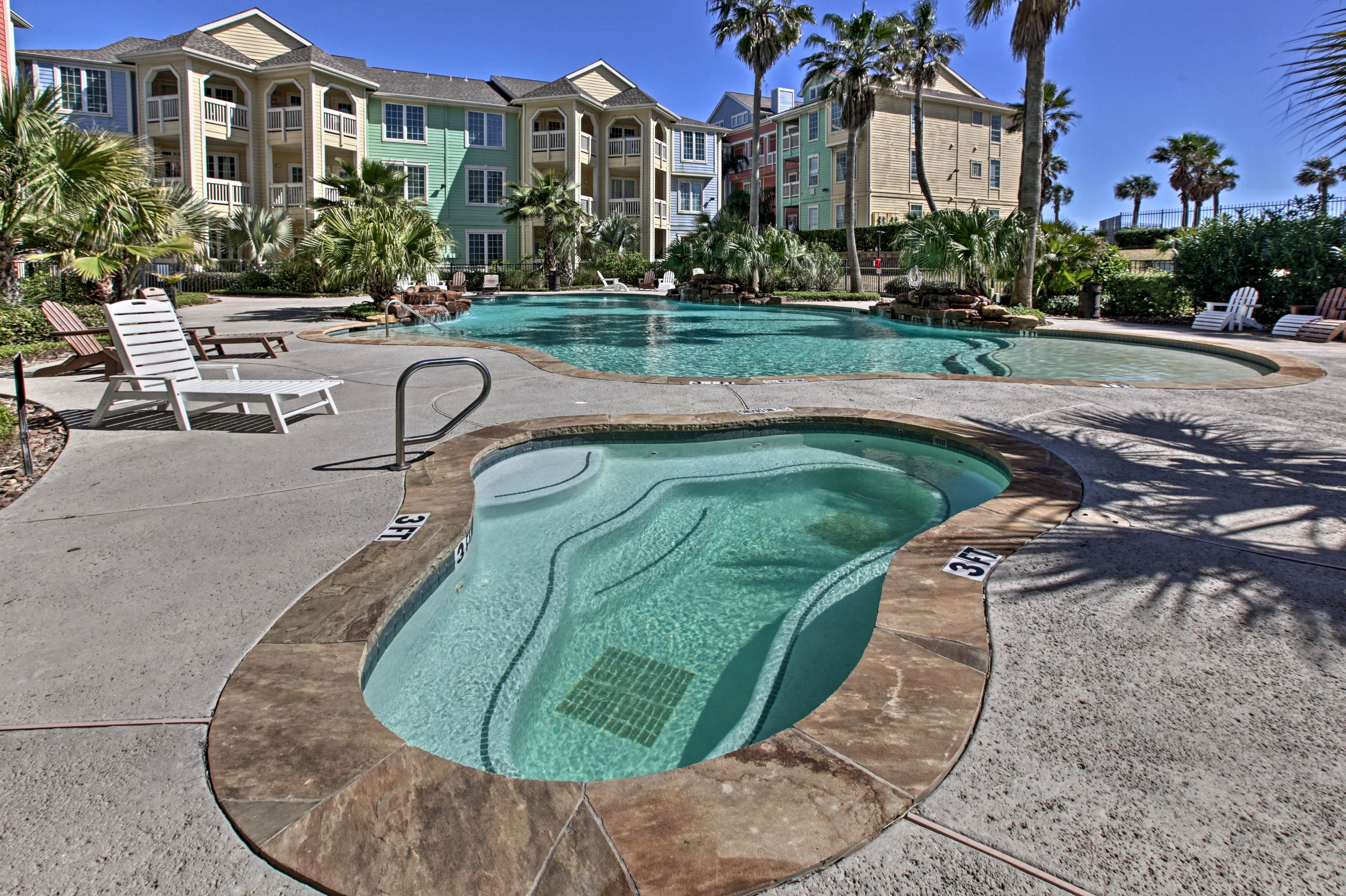 Soak up the coastal breeze from either of the 2 pools.