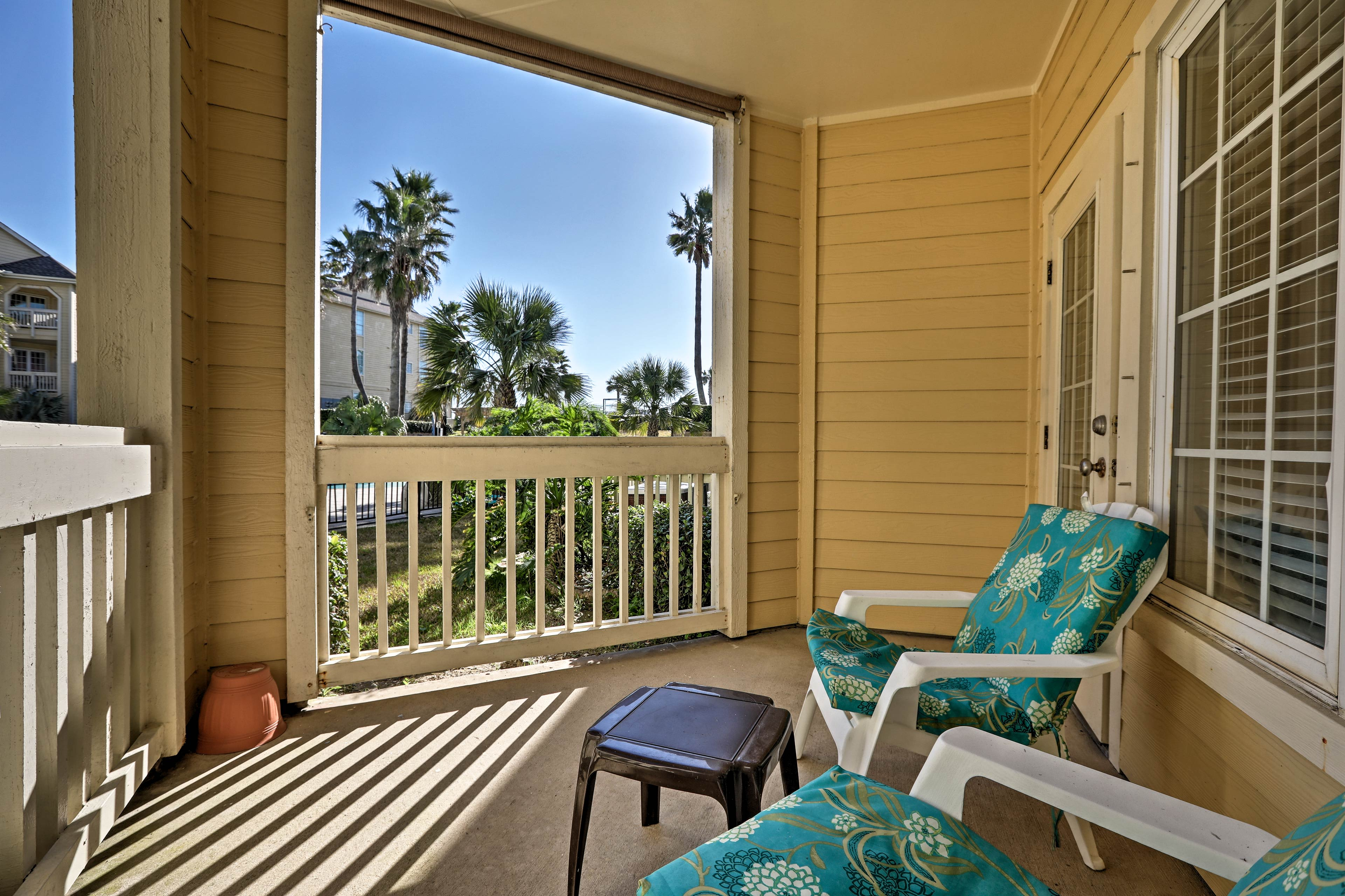 Relax on your private poolside deck.