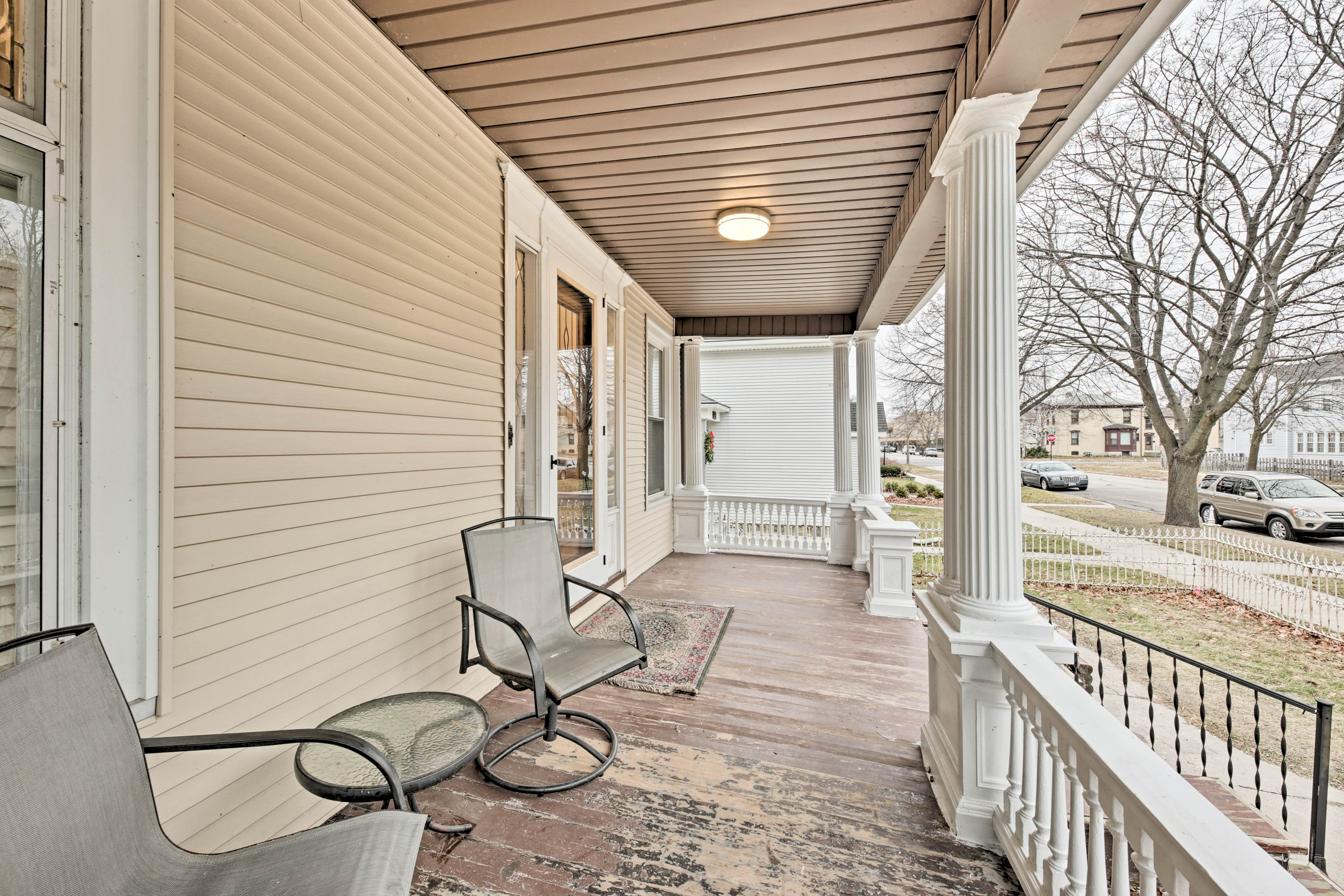 Sip your morning coffee on your covered front porch & admire the peaceful area!