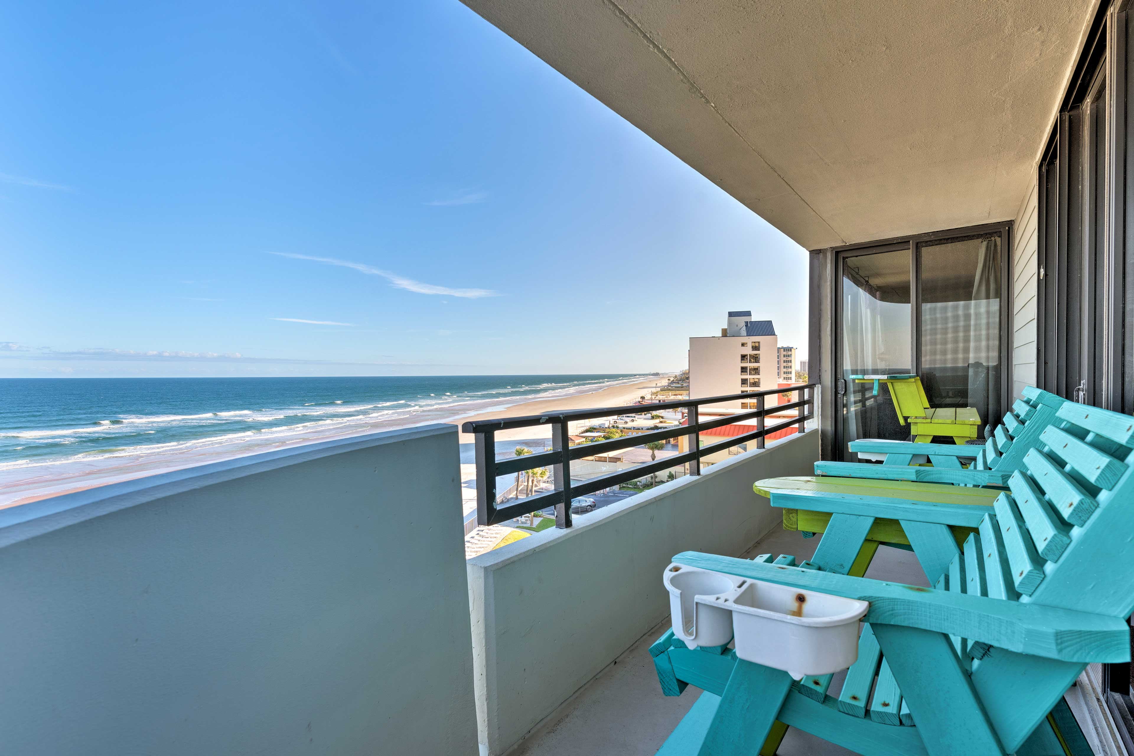 Soak up a refreshing coastal breeze from the shaded balcony.