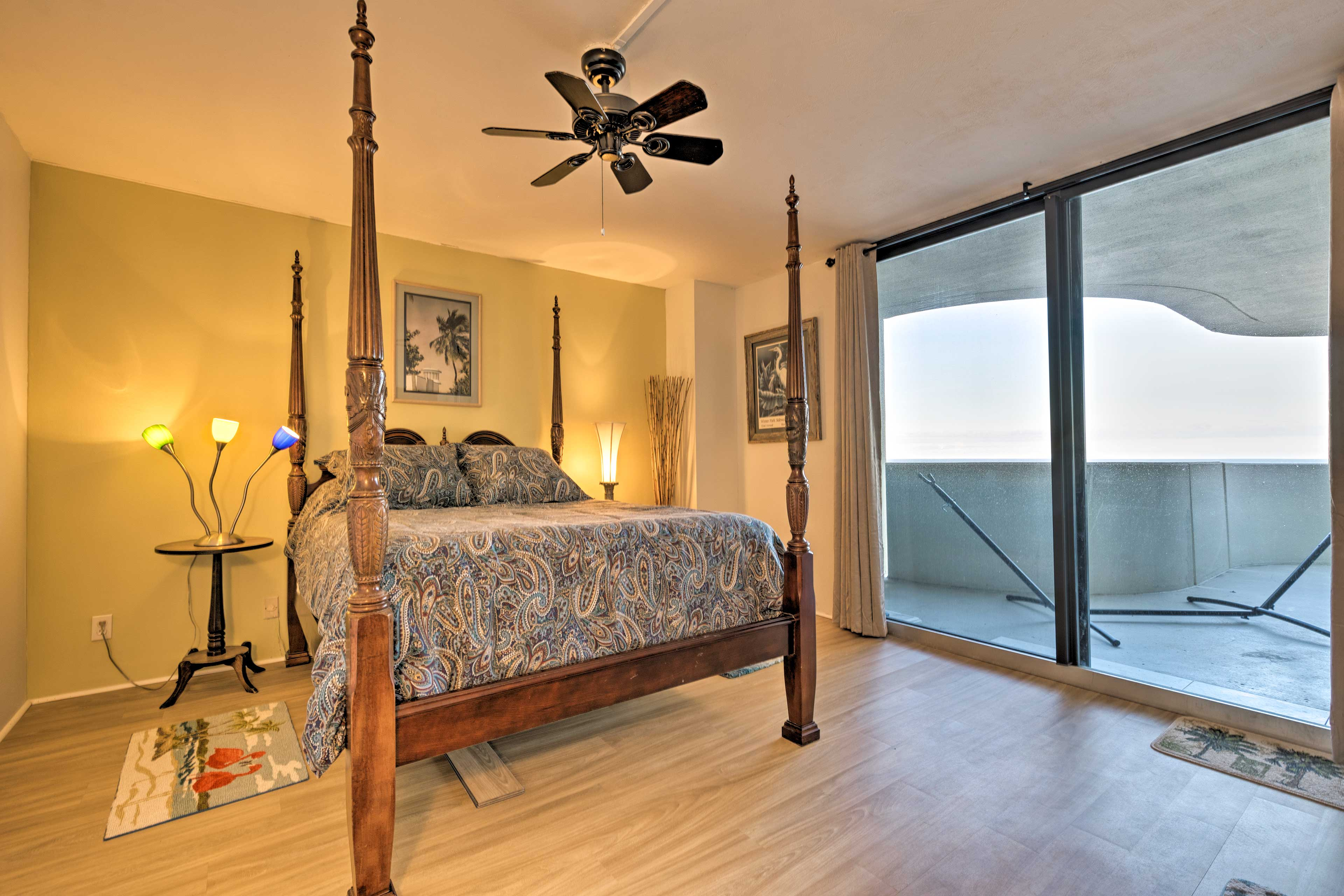Two bedrooms boast comfortable queen beds.