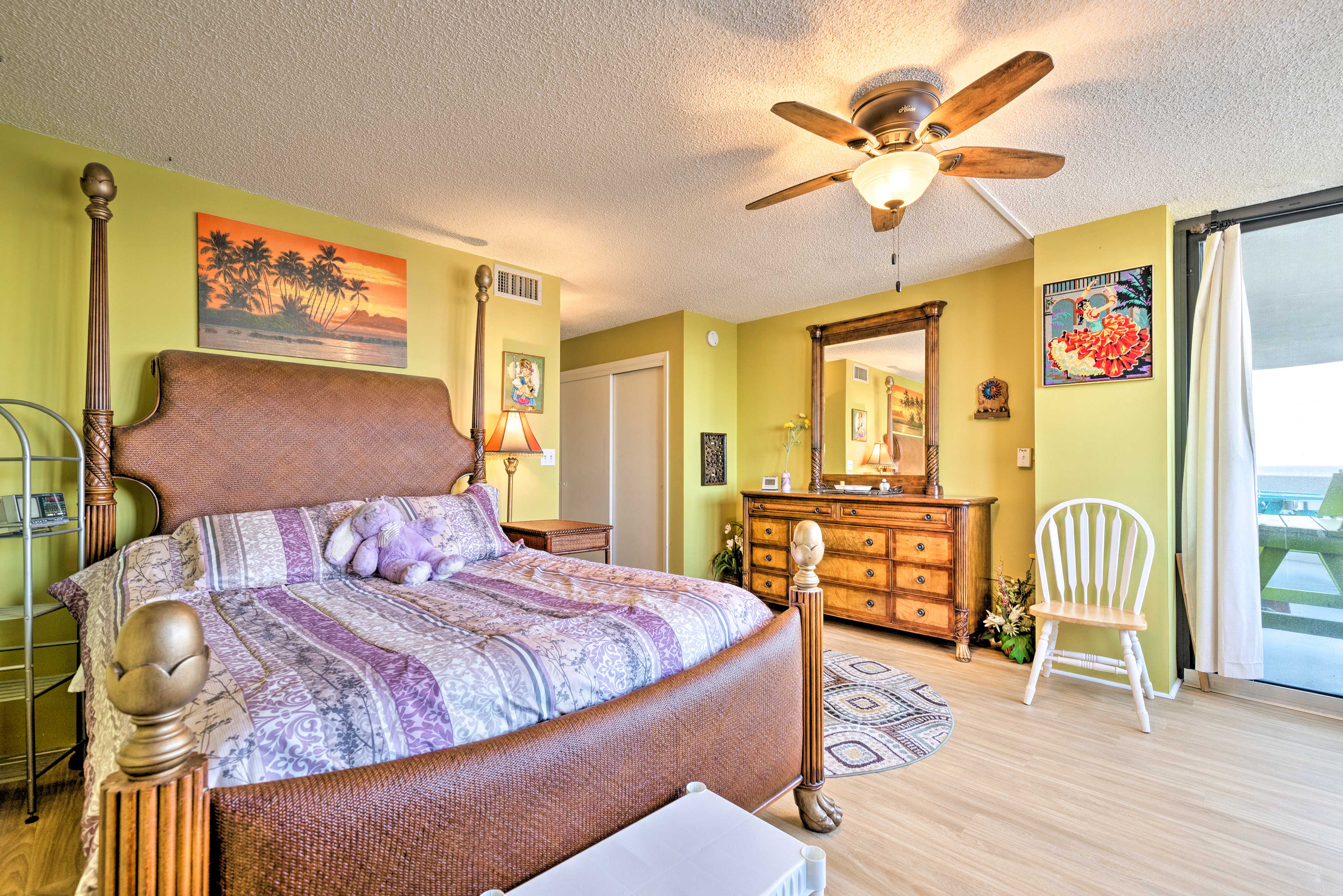 Bedroom 2 boasts eclectic decor throughout.