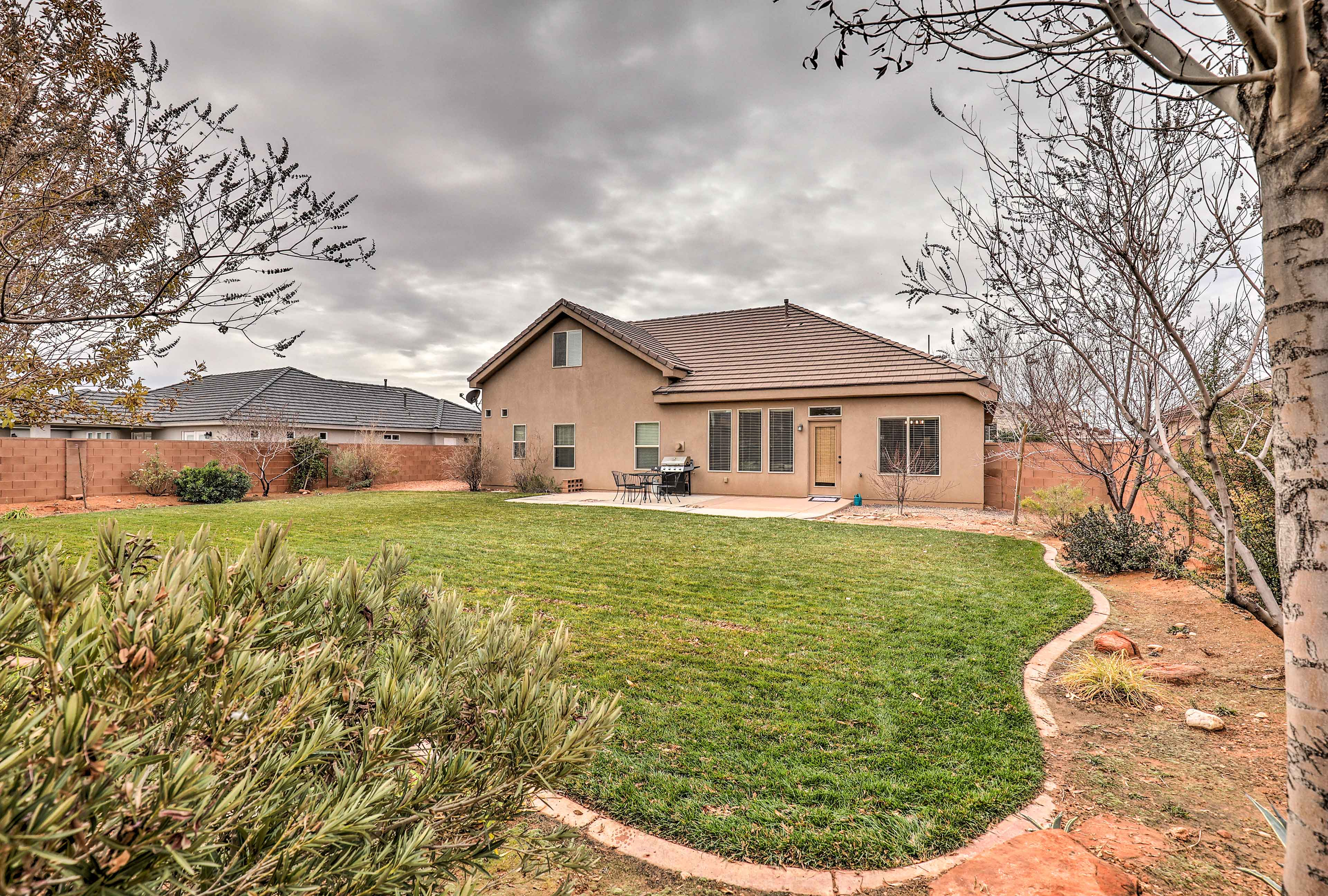 Take full advantage of this fully fenced and landscaped backyard.