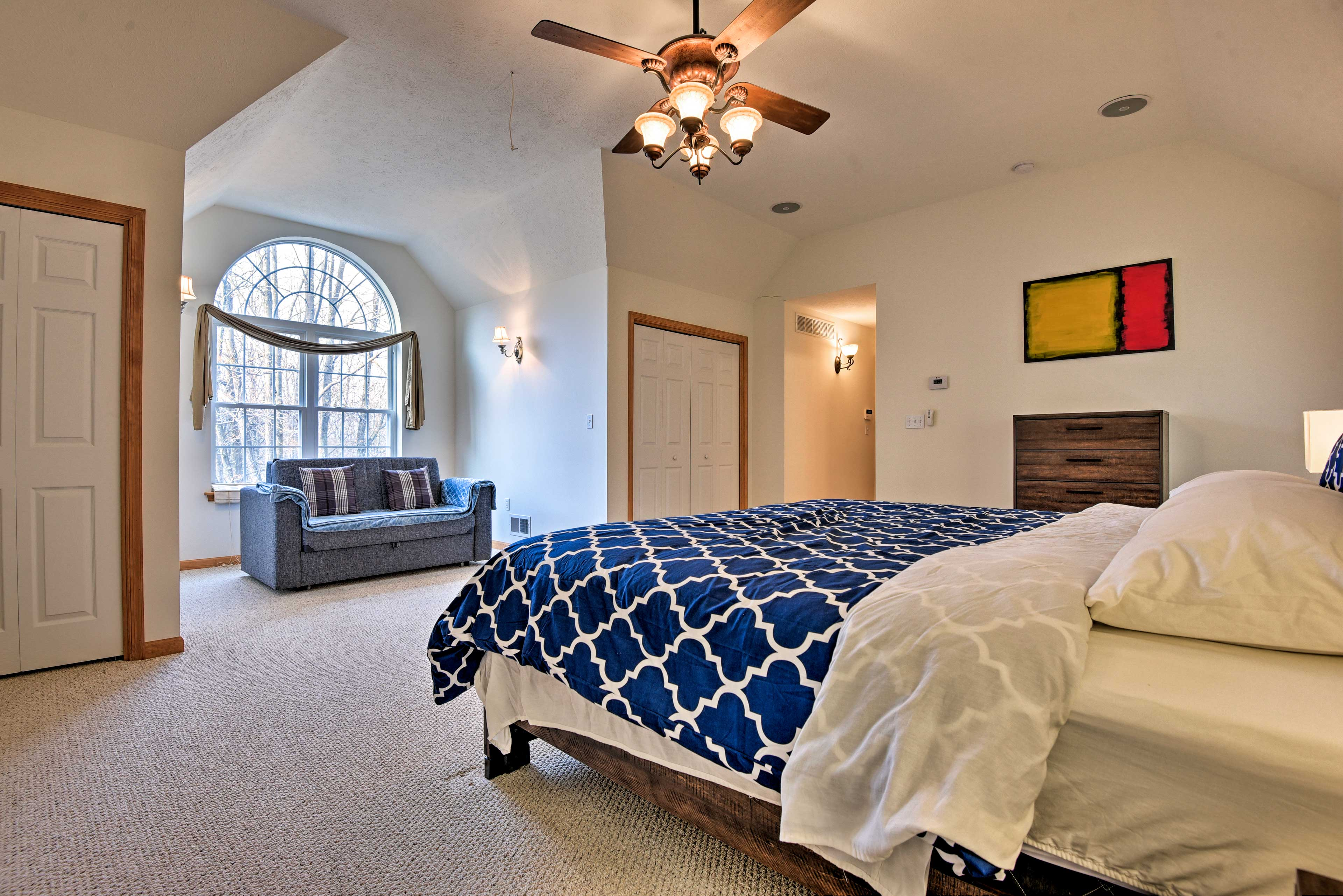Sleep soundly in this spacious bedroom.