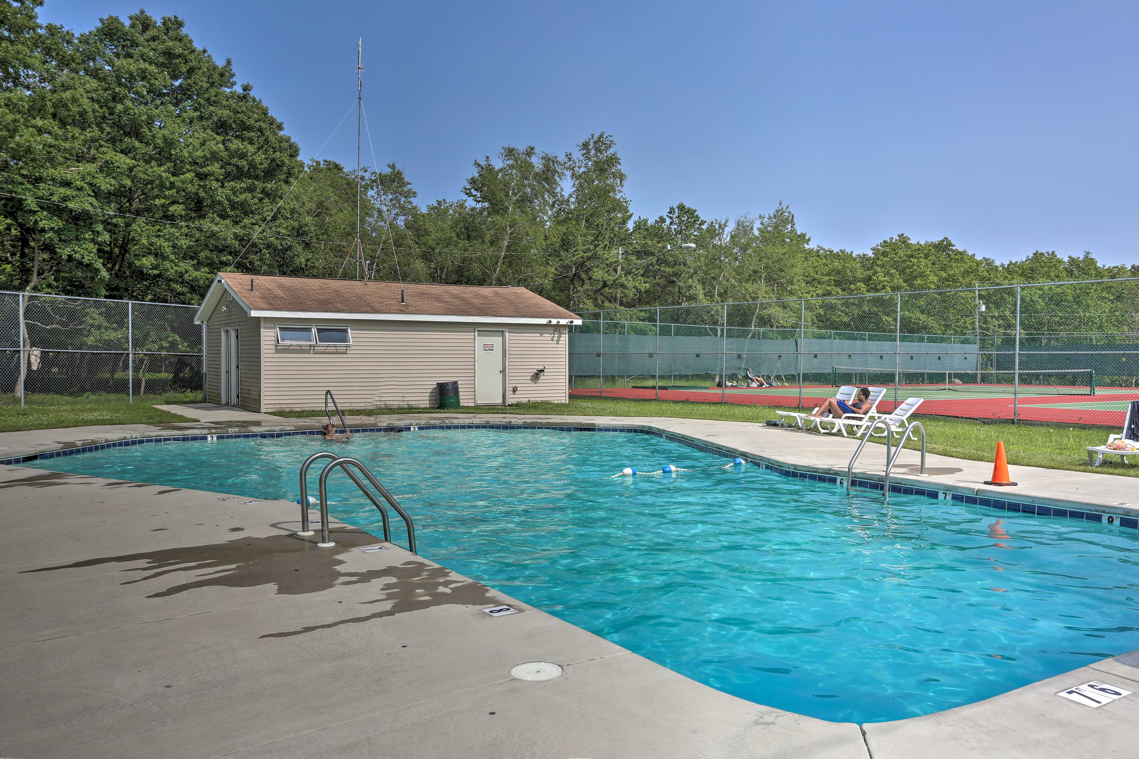 Who's up for a visit to the community pool?