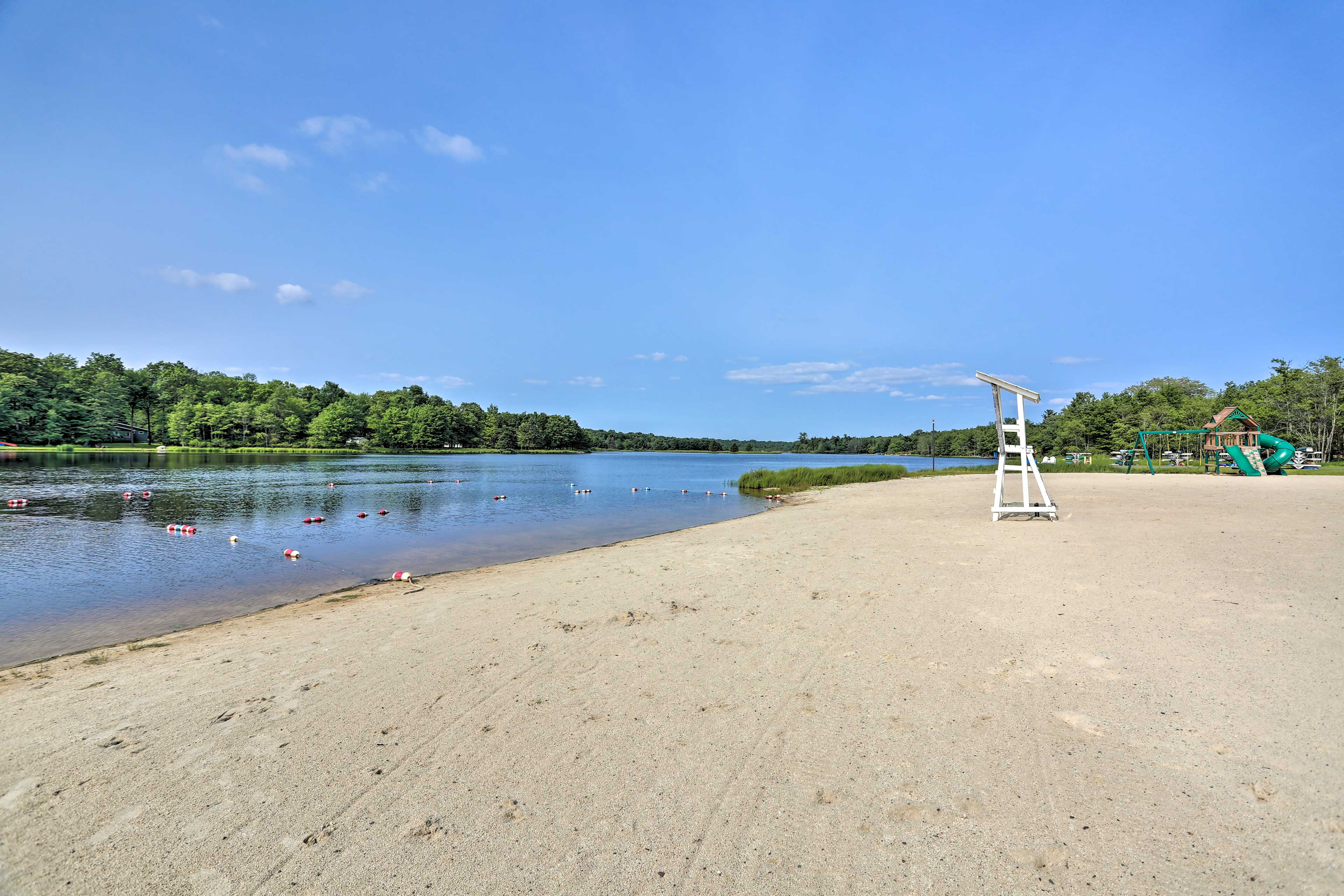 Sink your toes in the sand or the refreshing lake waters. The choice is yours!