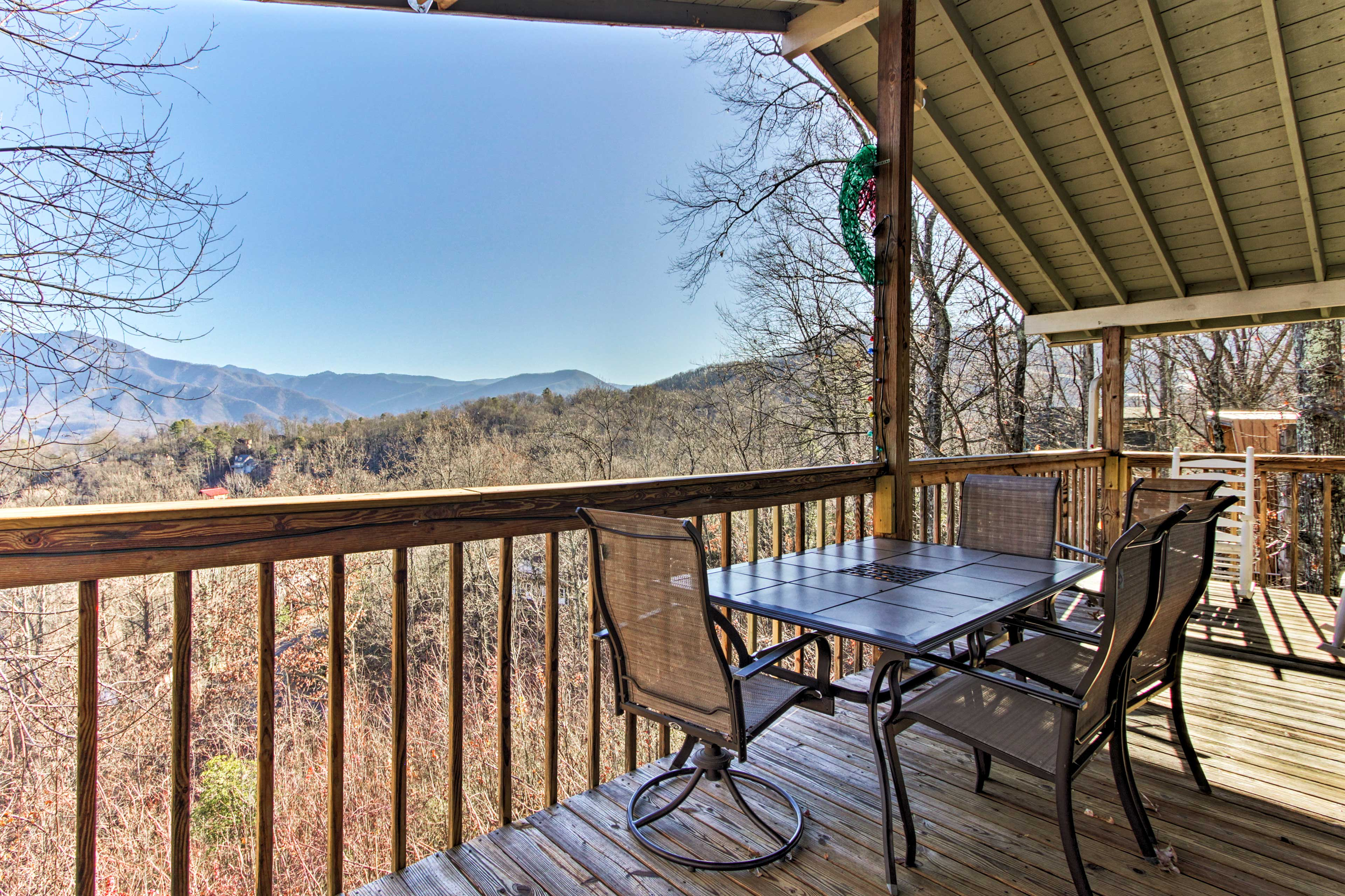 You'll love the sweeping views of the surrounding mountains.