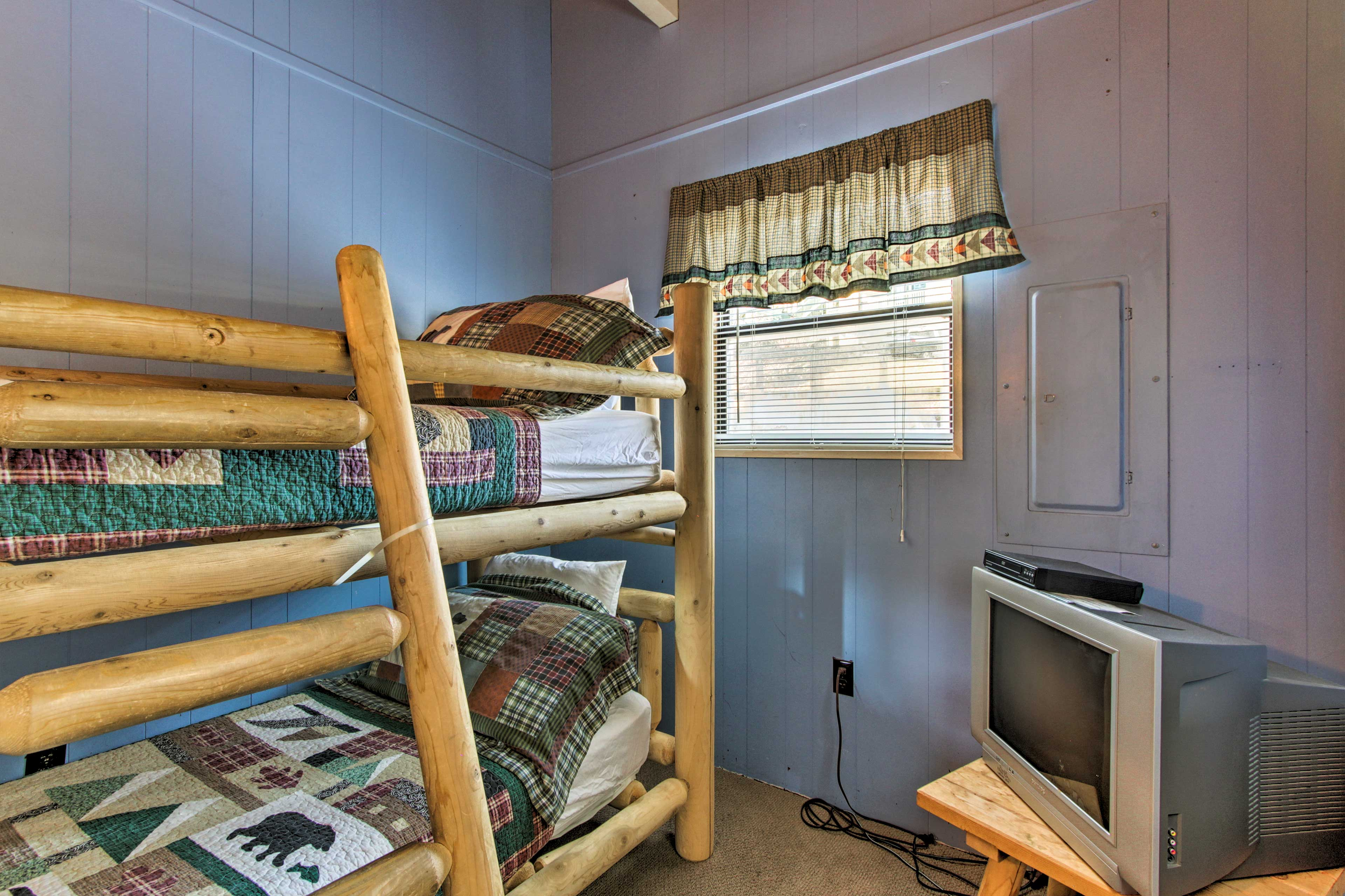 Tuck the kids into the twin-over-twin bunk bed in the final room.