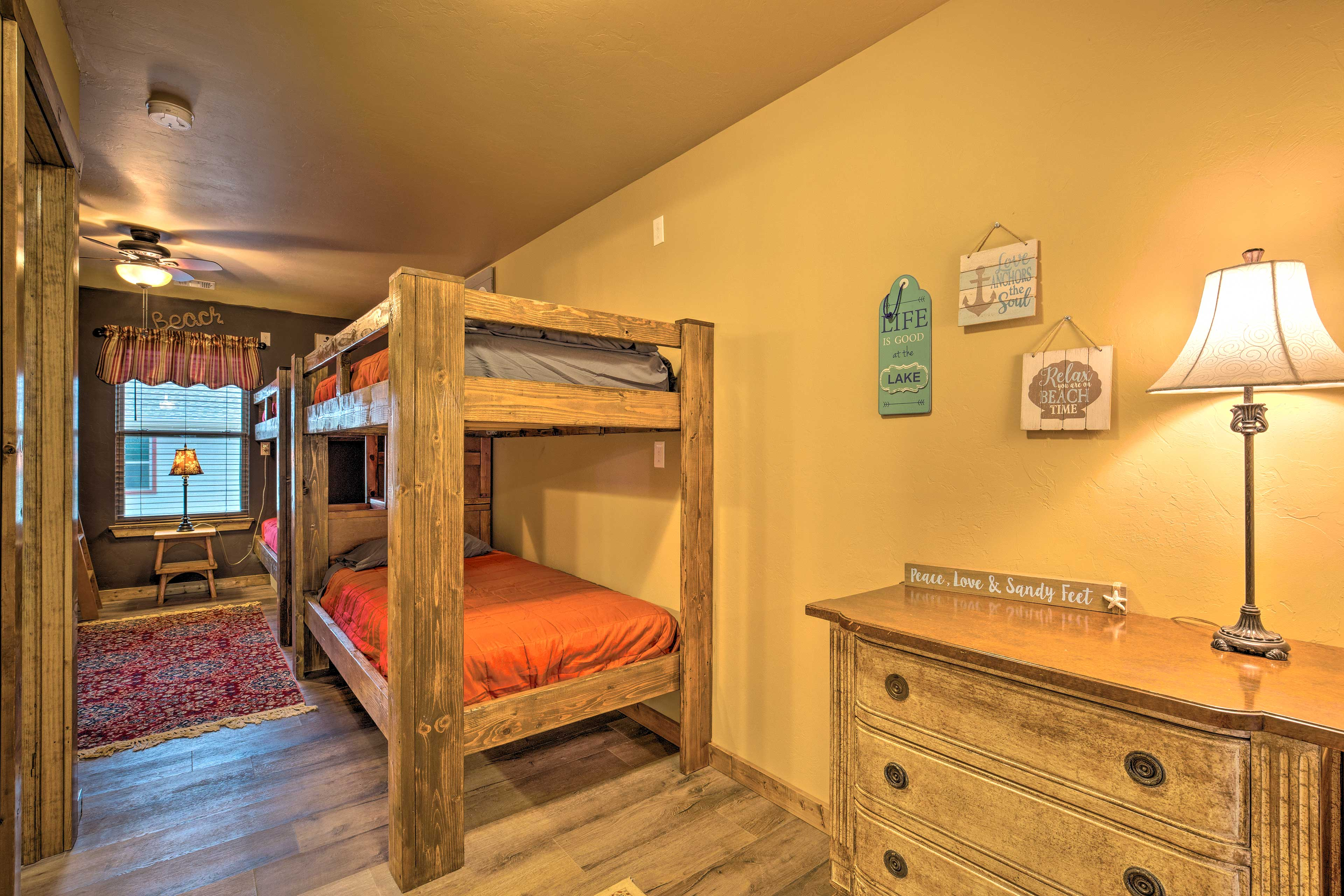 Kids will love claiming the bunk room at night.