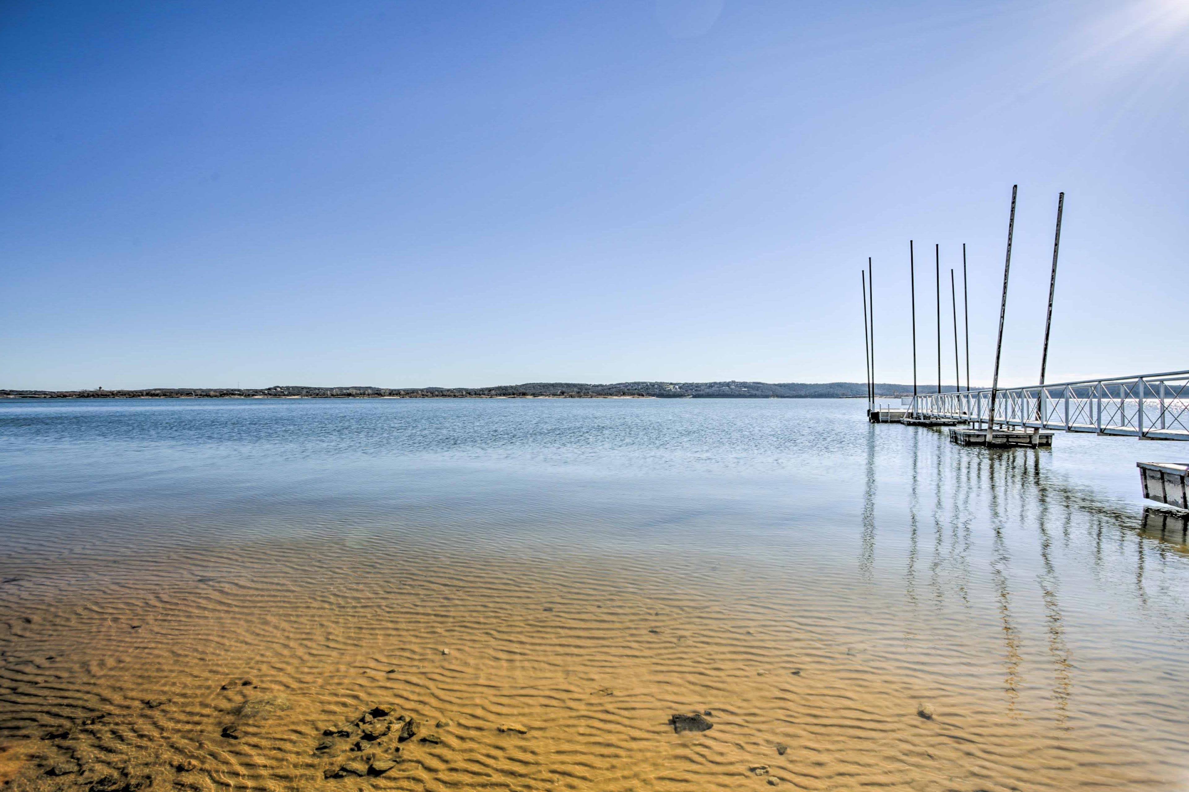 Walk down for endless days on Lake Texoma!