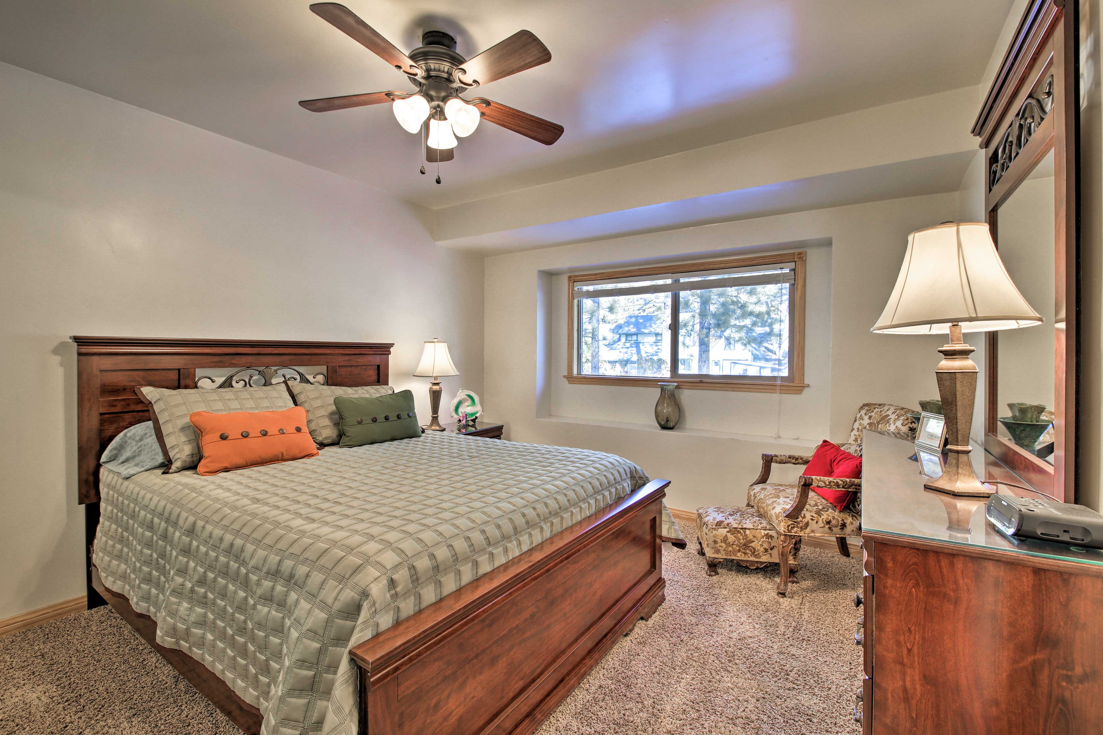 Claim the queen bed as your own!