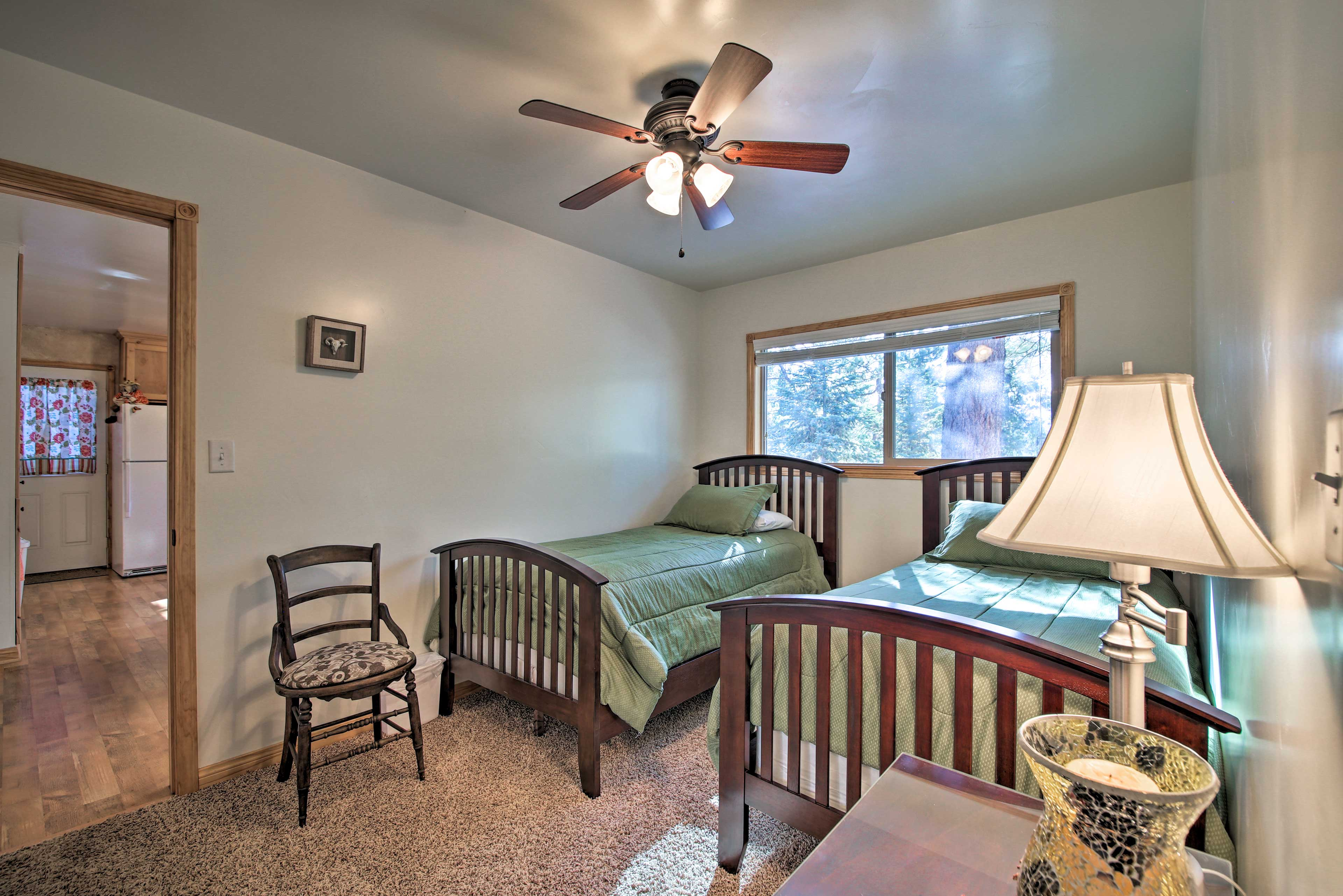 The third bedroom also features 2 twin beds.