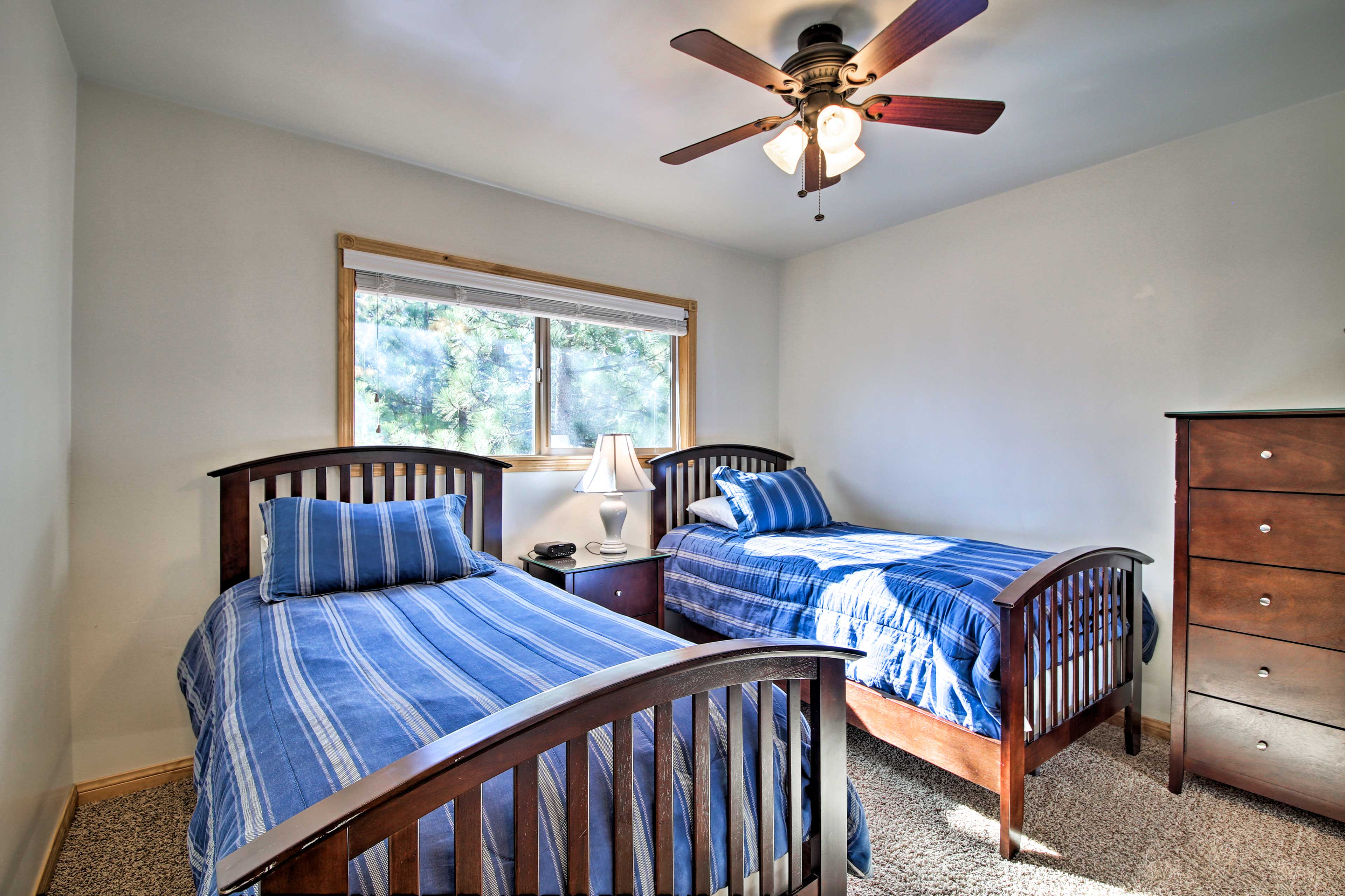 Sleep up to 2 guests in these cozy twin beds.
