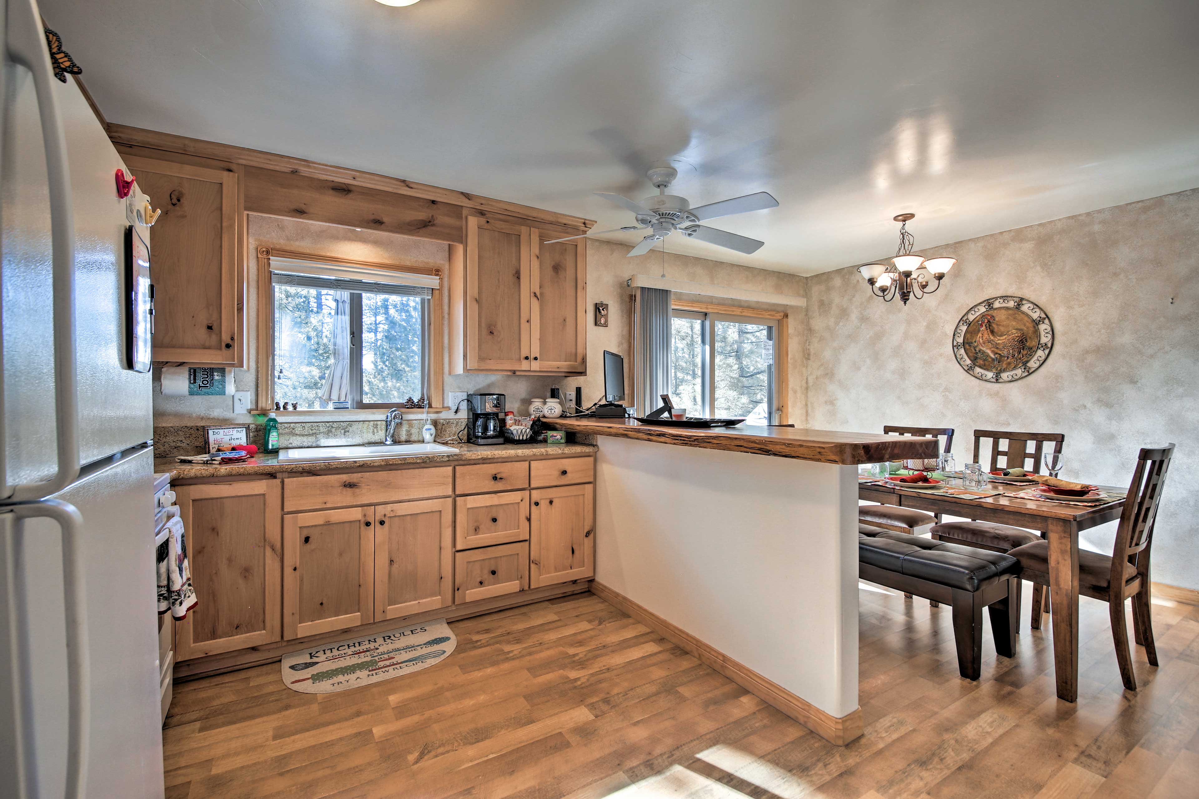 Easily communicate through the open-concept layout.