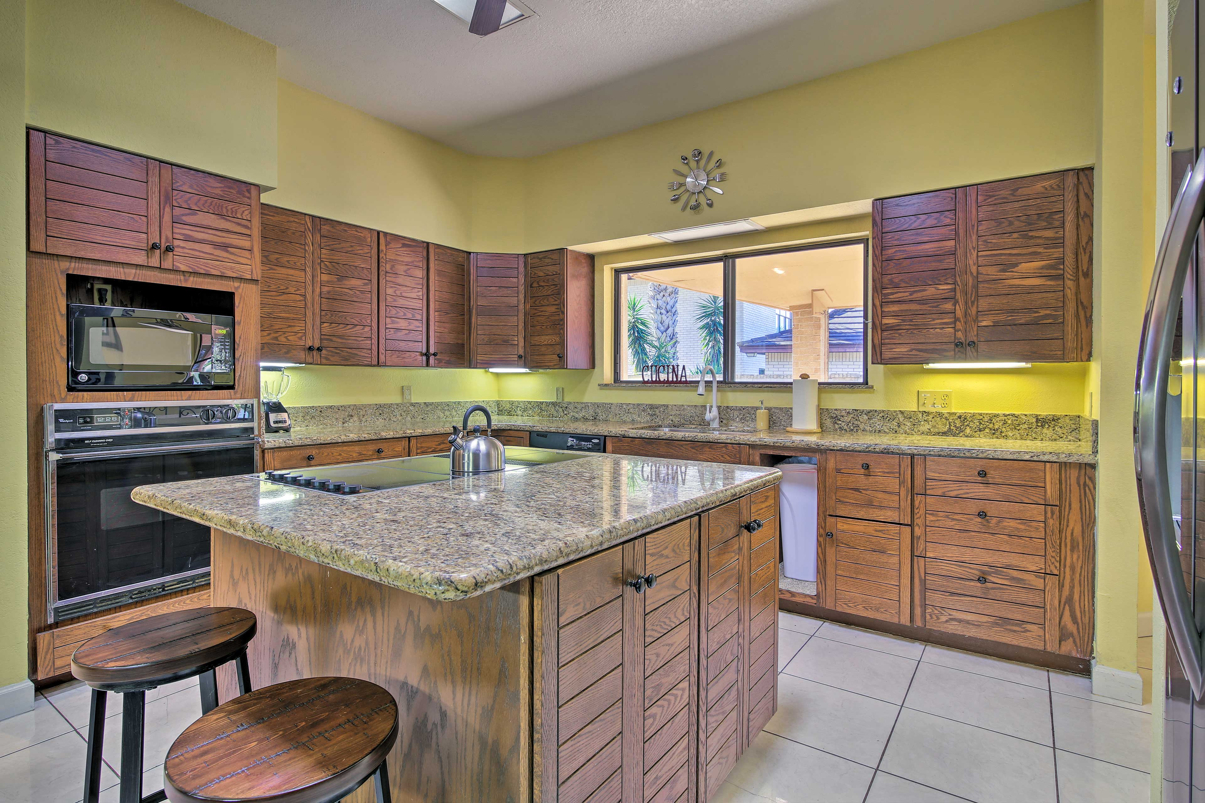 Meal prep will be a breeze with ample counter space.