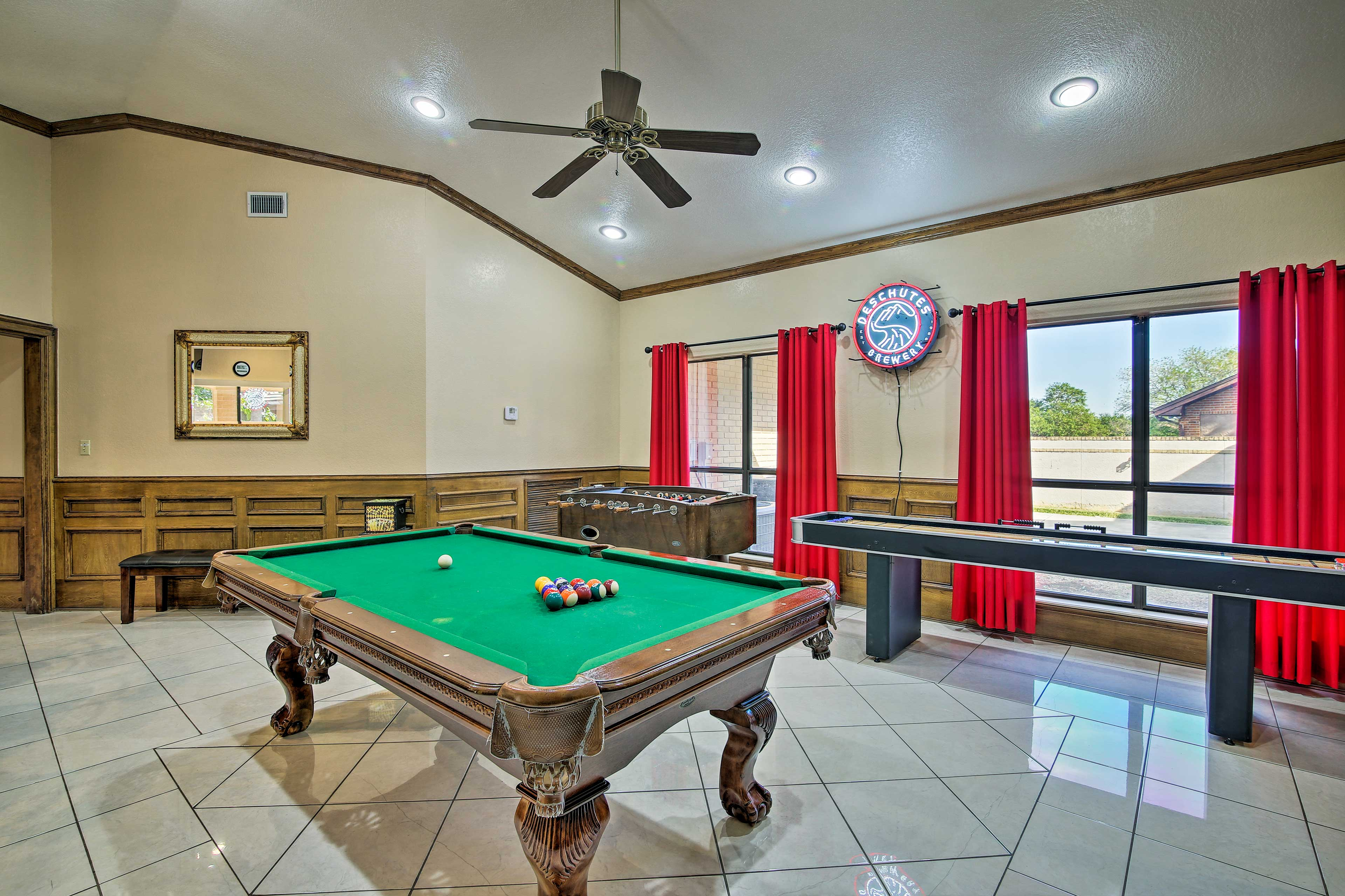Endless entertainment awaits at this vacation rental with a game room.