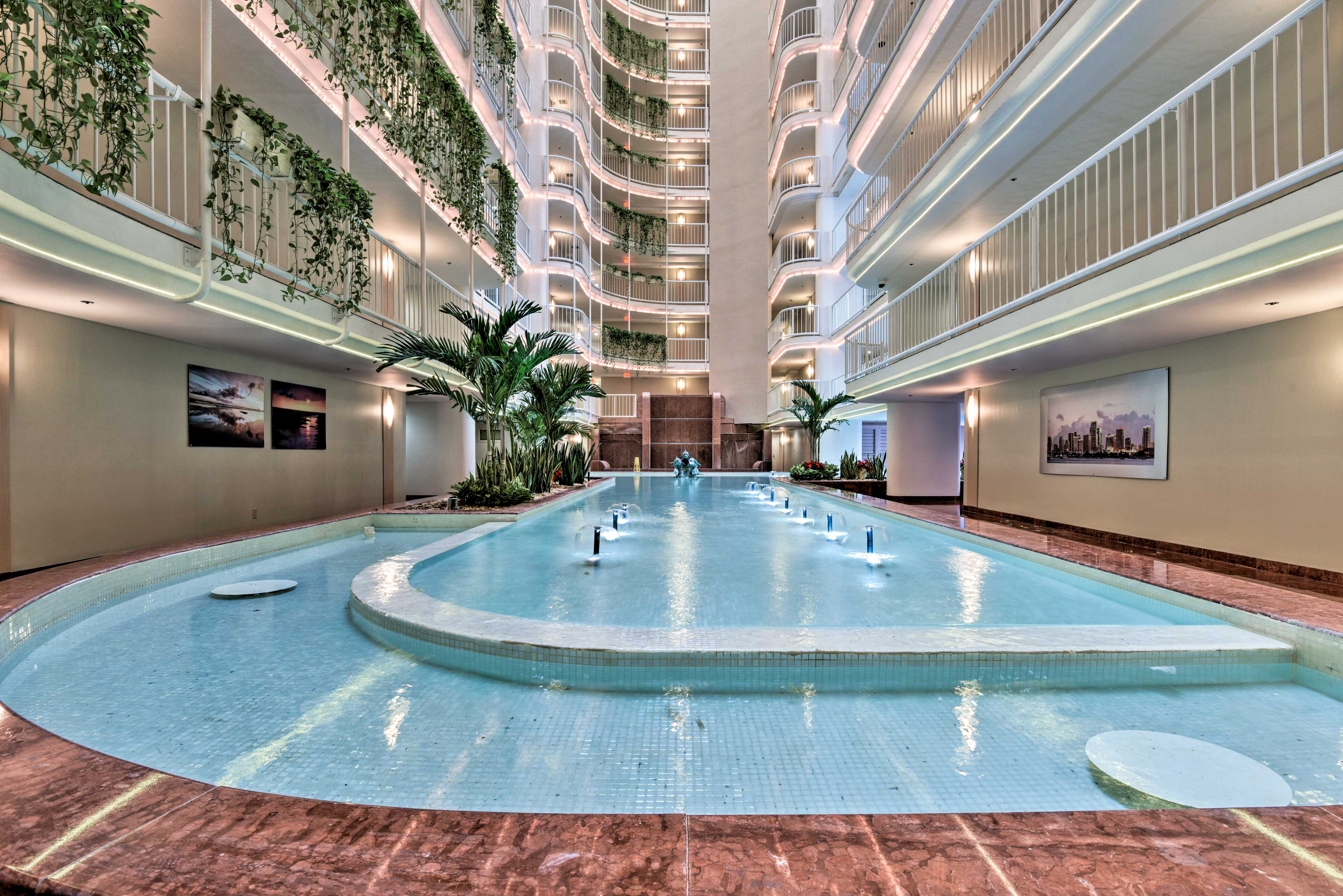 The Grand Doubletree offers a luxurious interior.