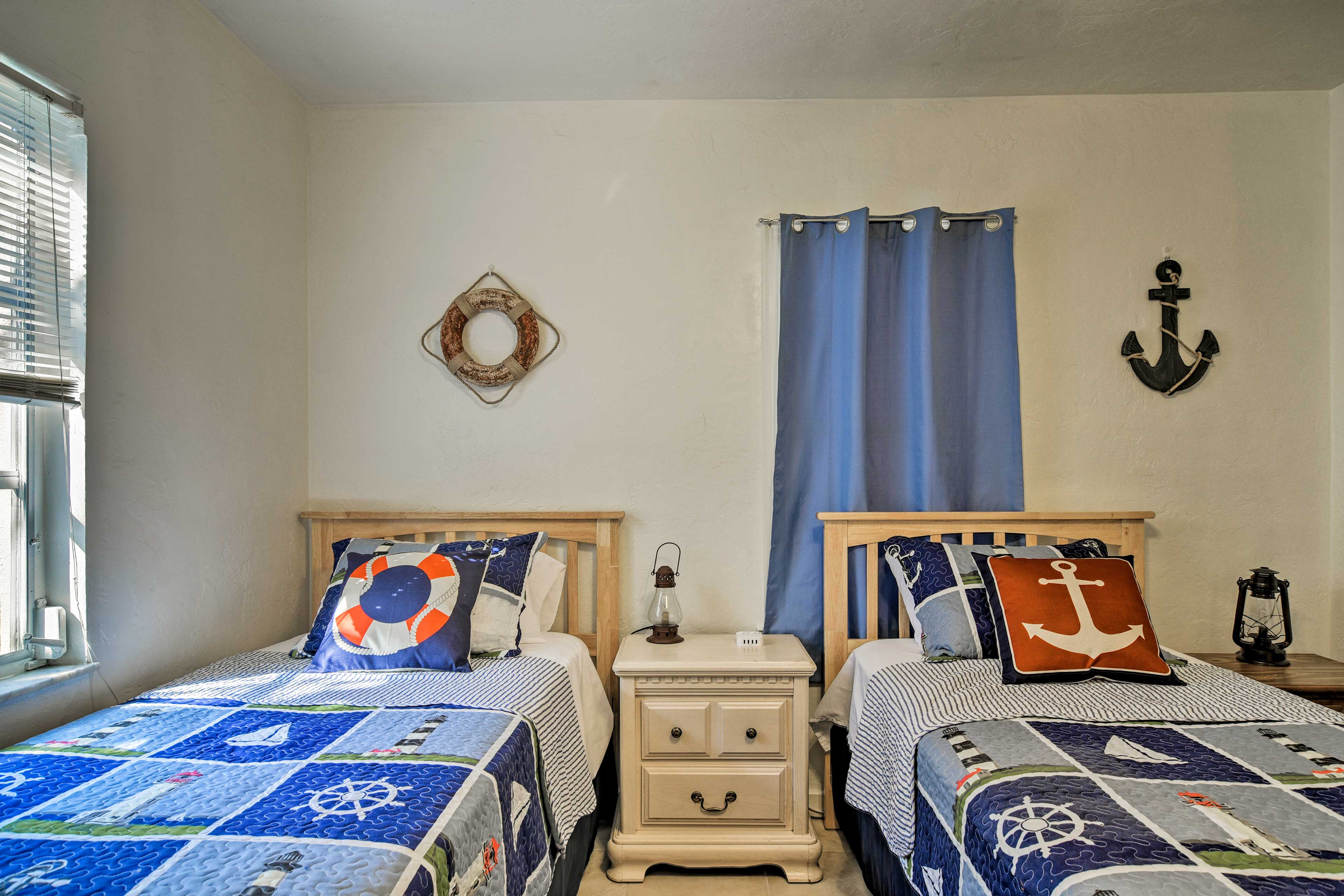 It won't be hard to anchor the kids down in these cozy beds after a long day!