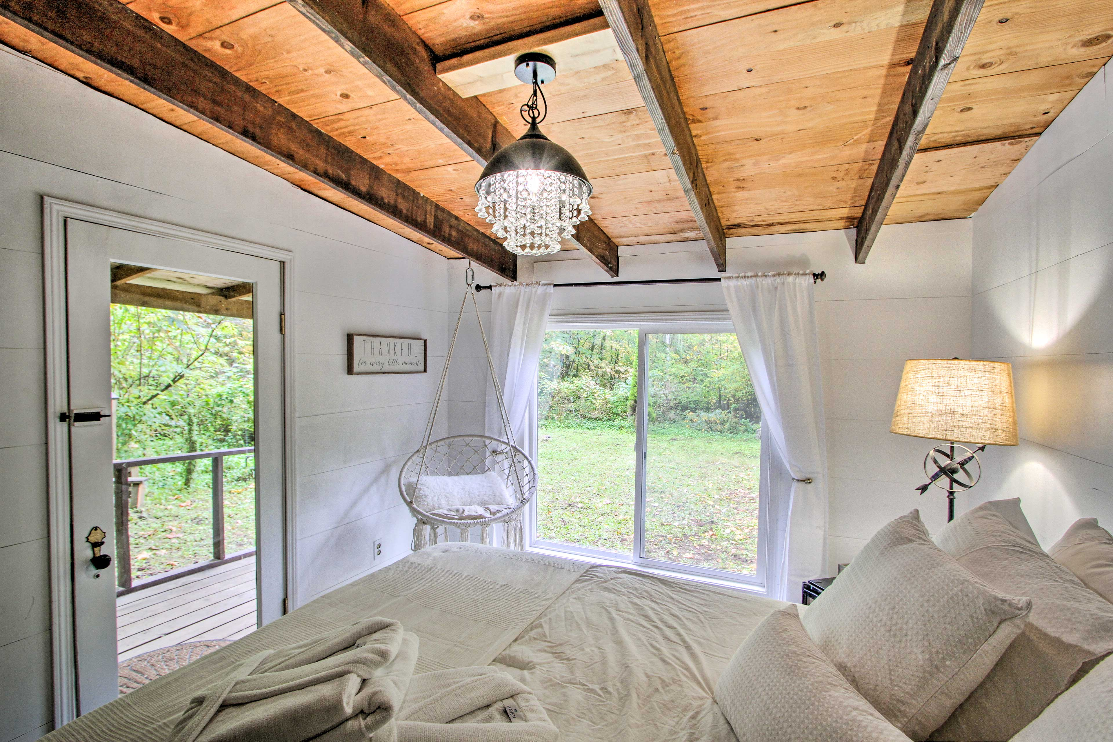Leave behind the stresses of reality and enjoy some R&R at this property.