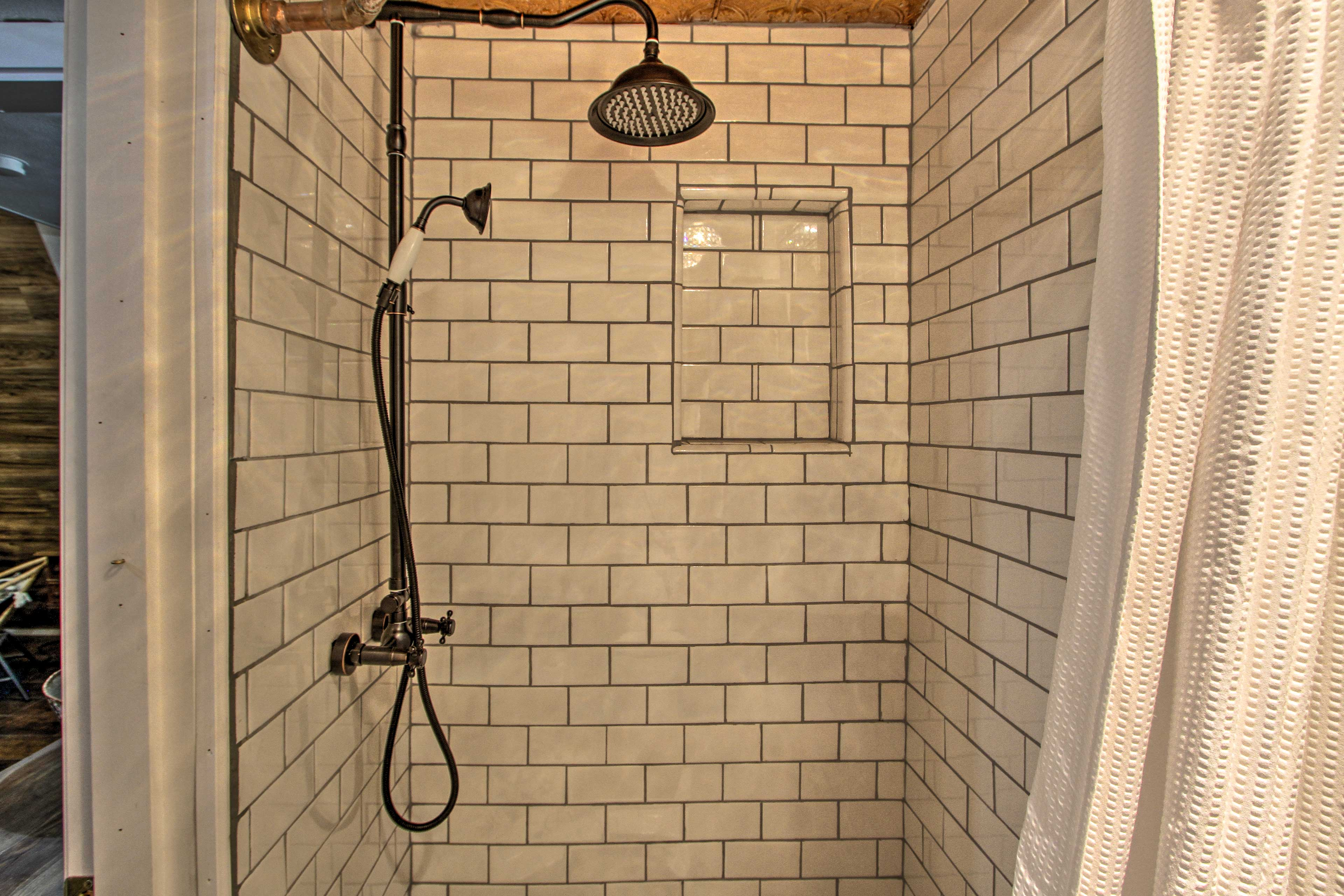 Rinse off under the rainfall showerhead before bed!
