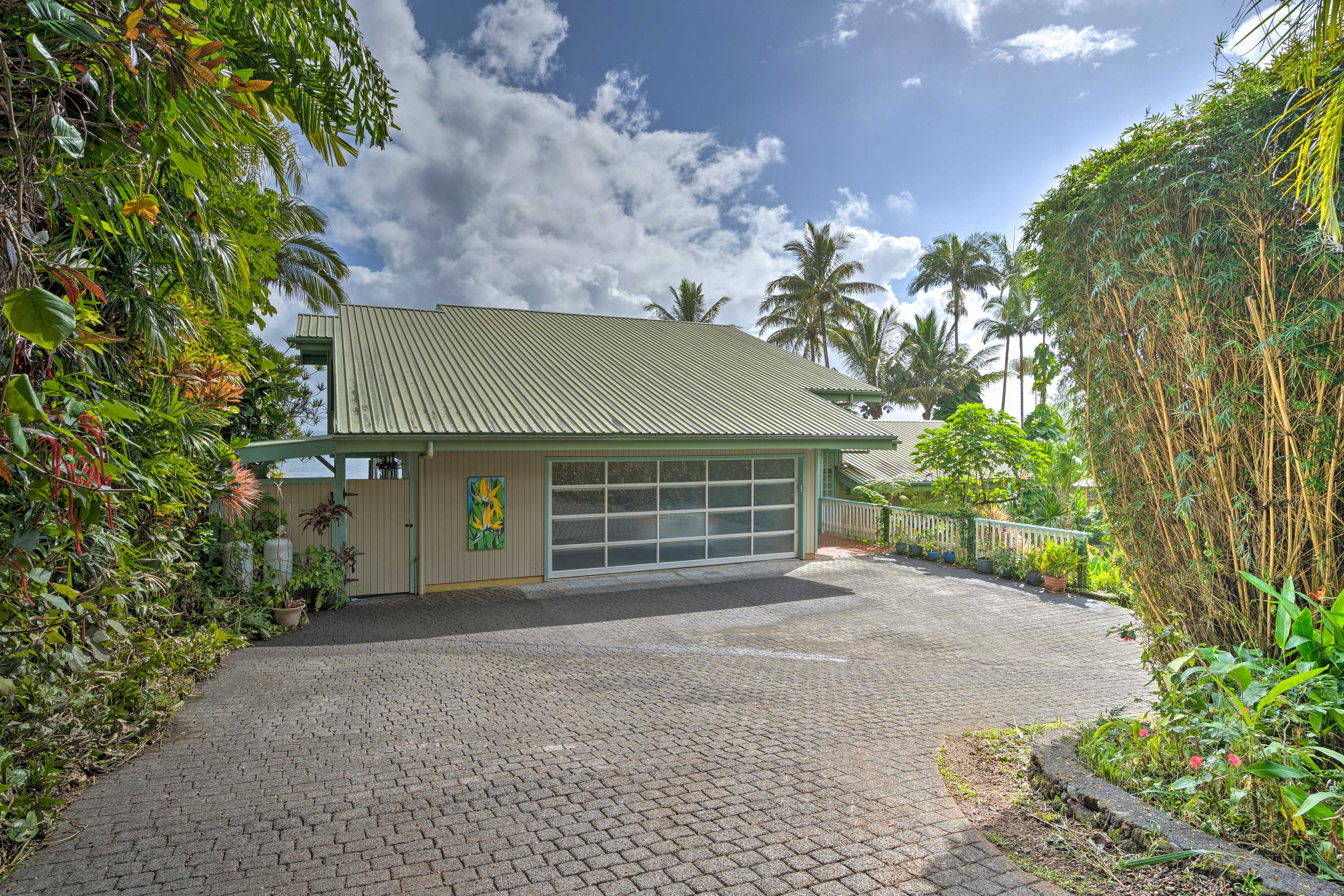 This home boasts 2,300 square feet, 2 bedrooms, 2 bathrooms, and room for 5.