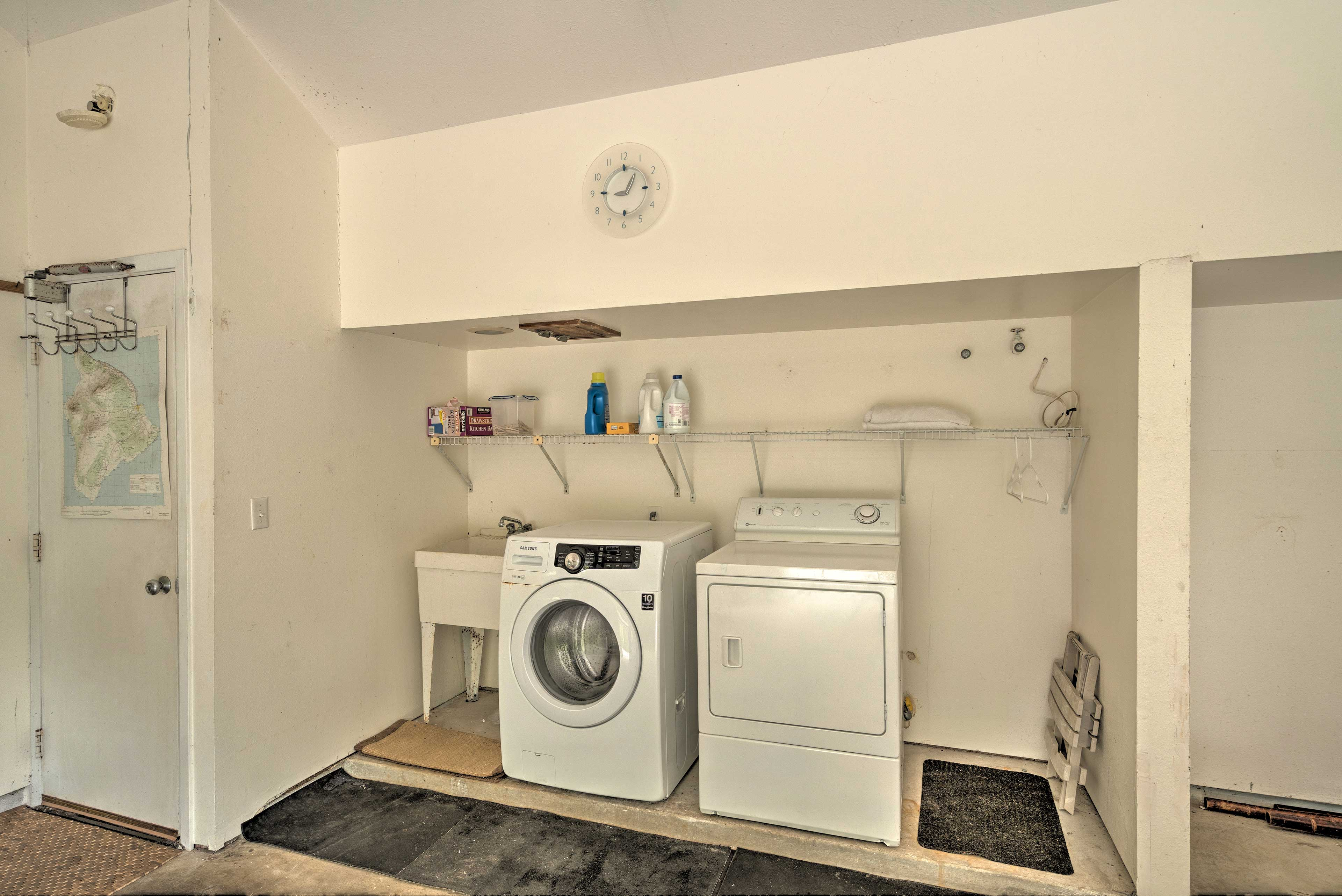 Enjoy the added convenience of in-unit laundry machines.