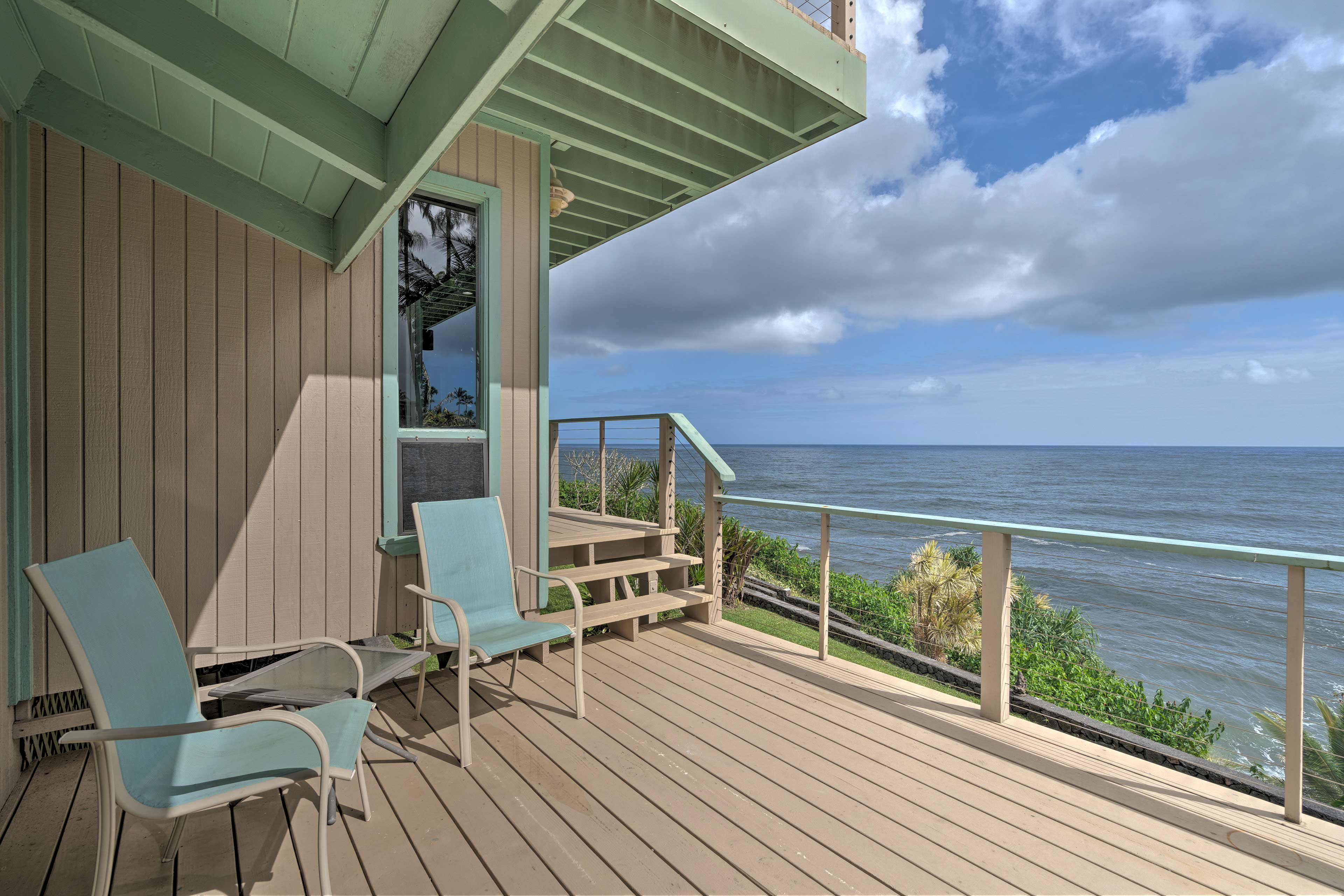 You'll be blown away by the views when you step out onto the deck.