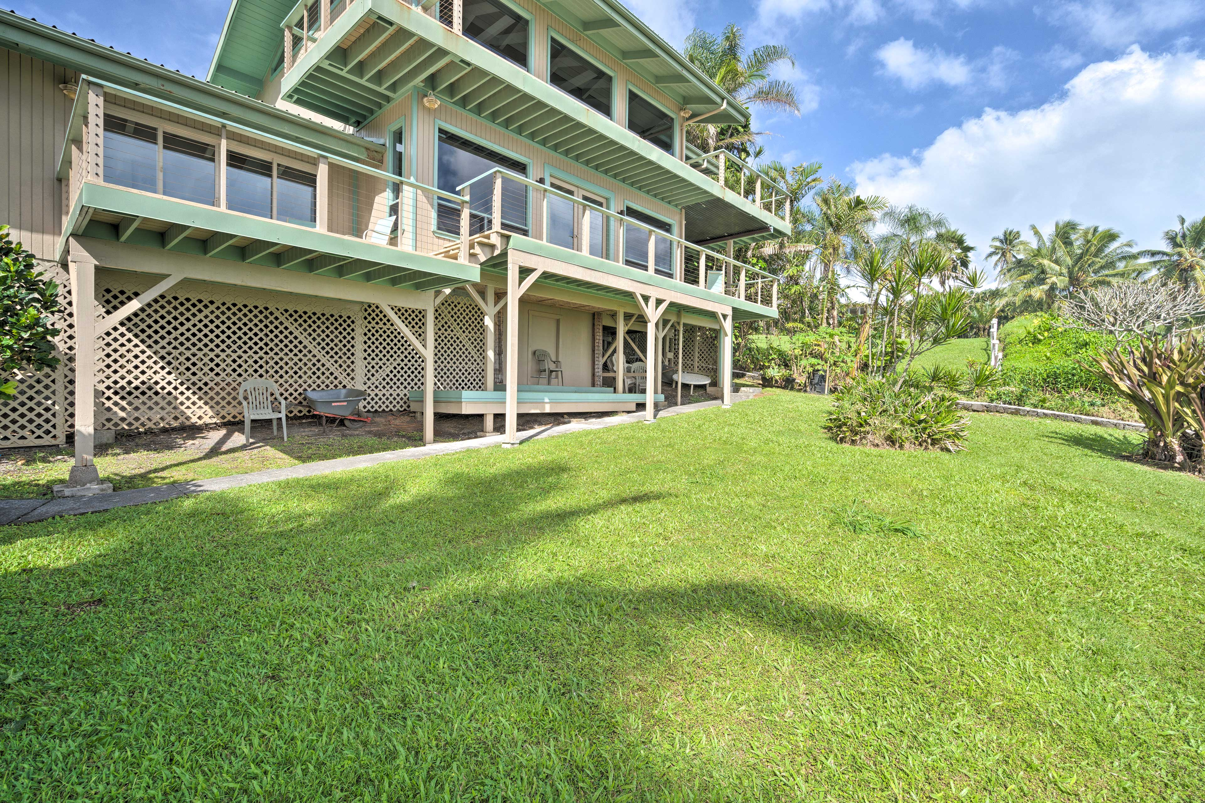 The property is beautifully landscaped with native and non native vegitation.