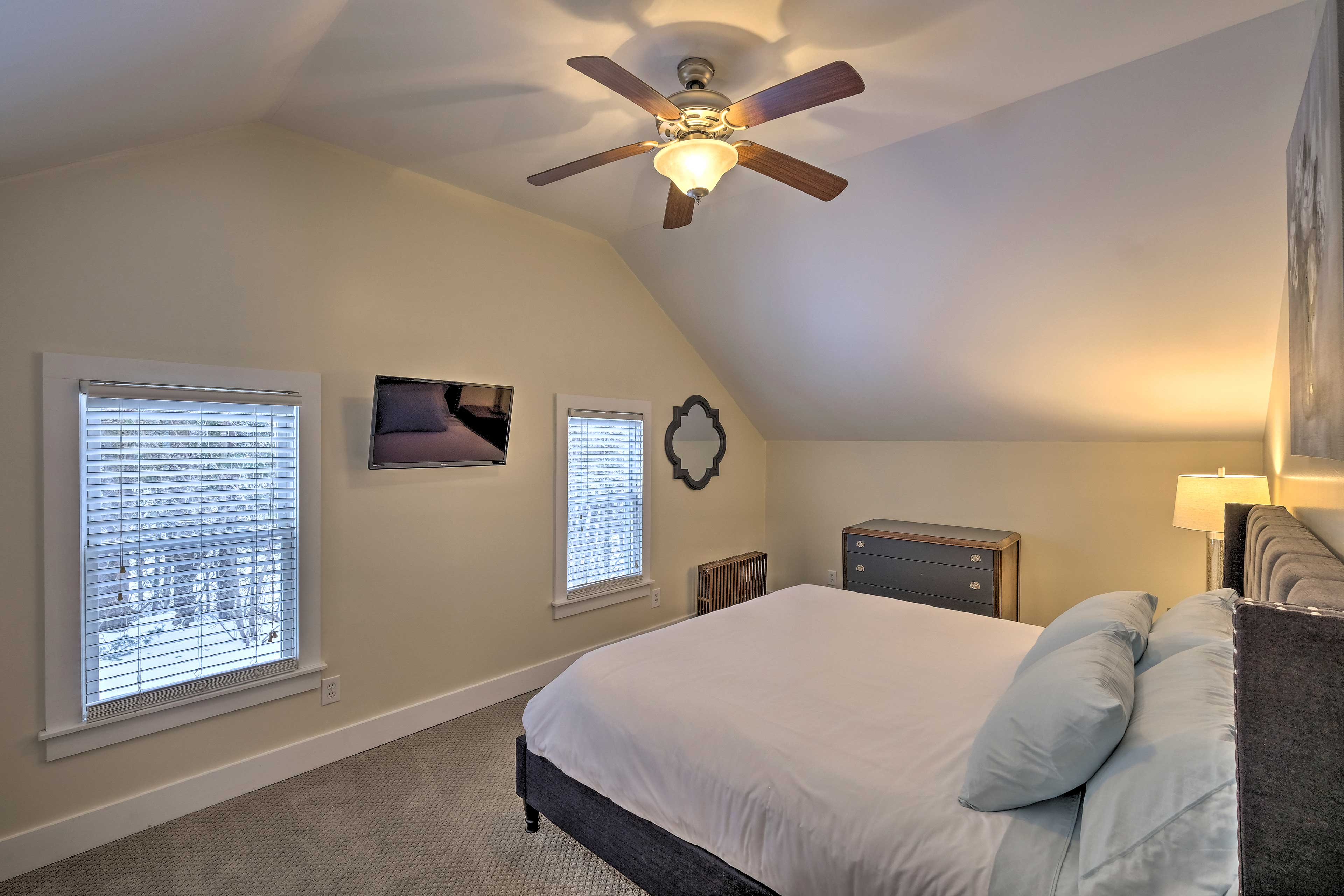 Each bedroom is equipped with a TV, great for early mornings and late nights!
