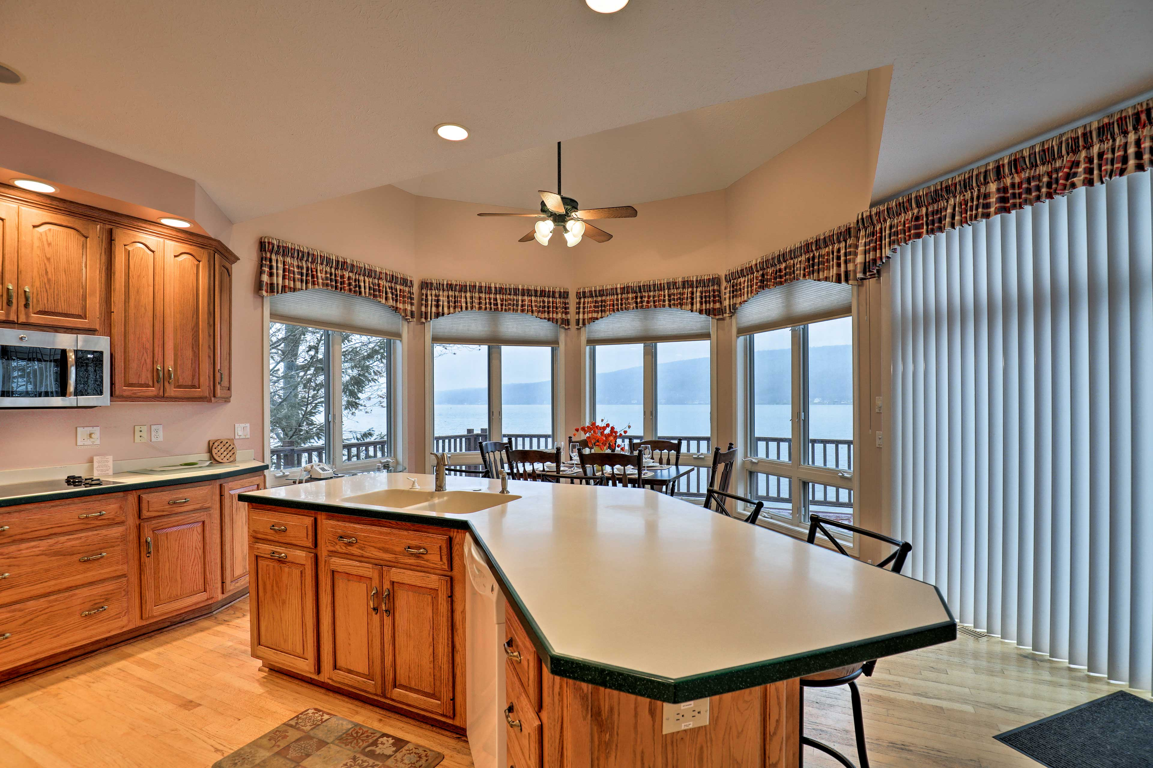 Ample counter space allows you to spread out while you prepare your meals.