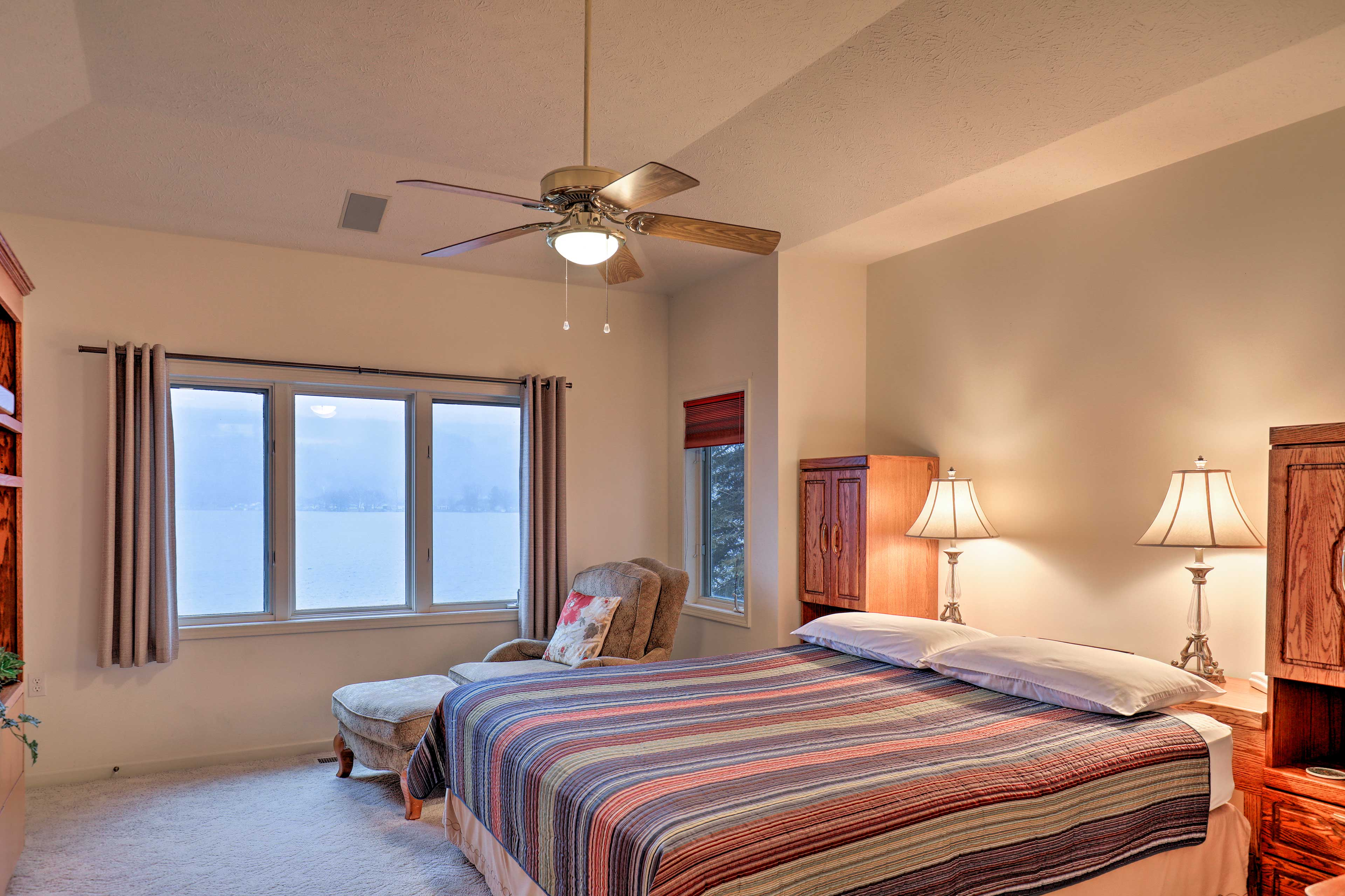 Wake up to views of the water right outside your window.