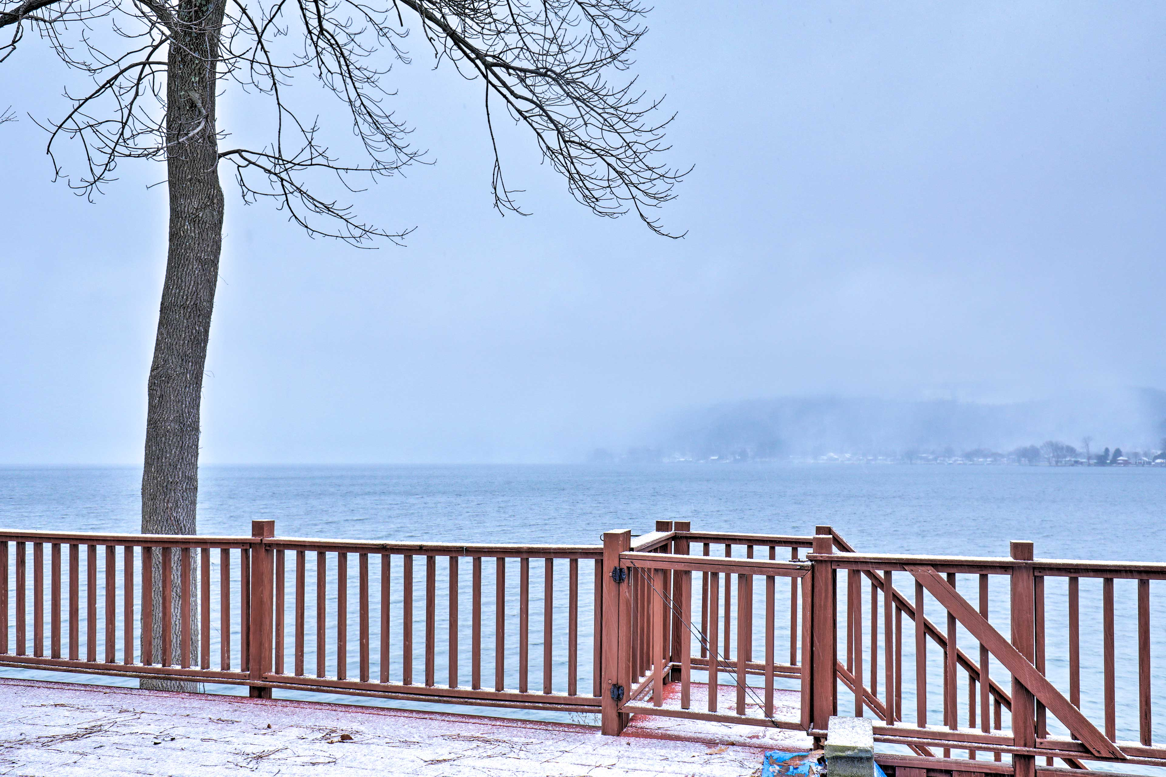 Bask the serenity of Honeoye Lake right from your private deck.