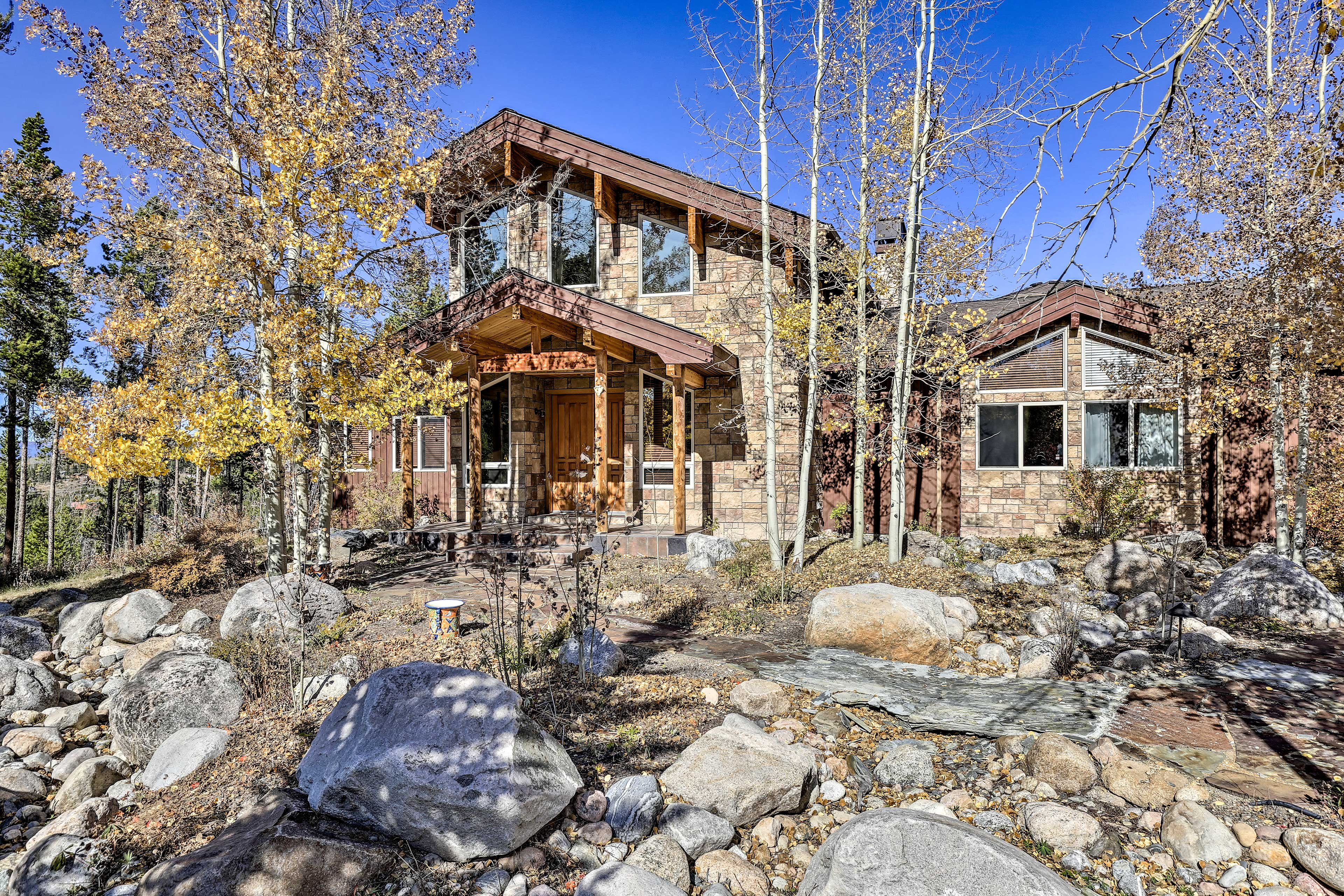 This home features a unique architectural design with 4 bedrooms and 3.5 baths.