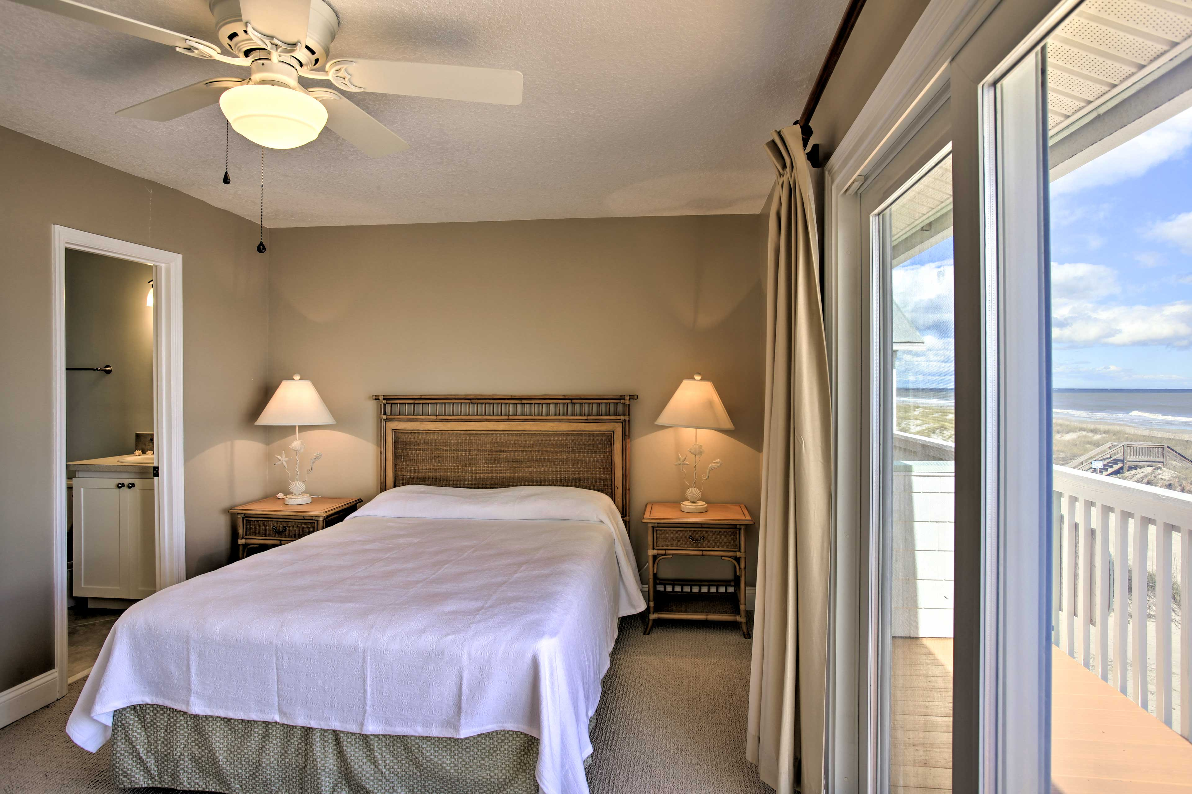Wake up to ocean views from the master bedroom's balcony!