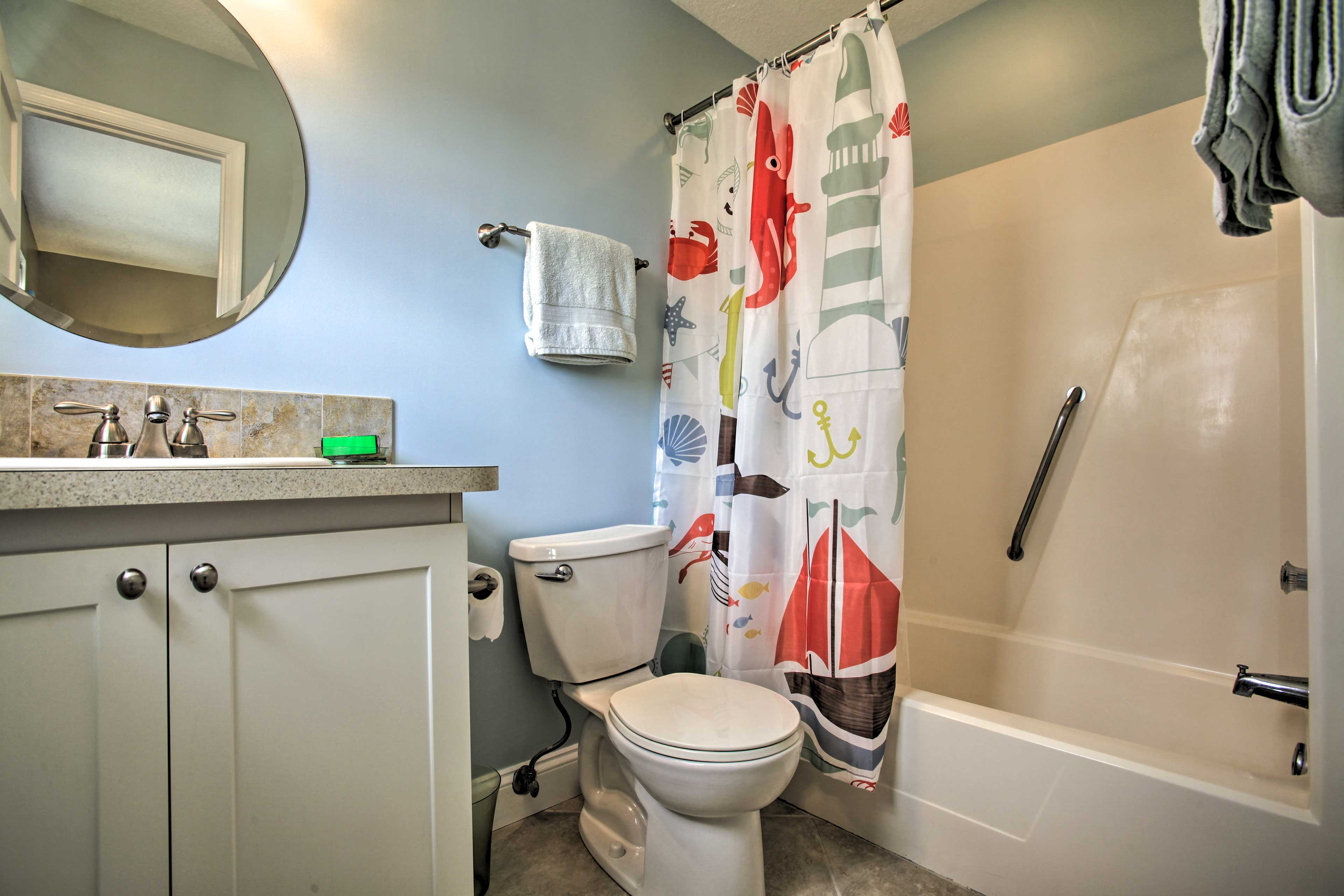 There are 2.5 bathrooms in the home.